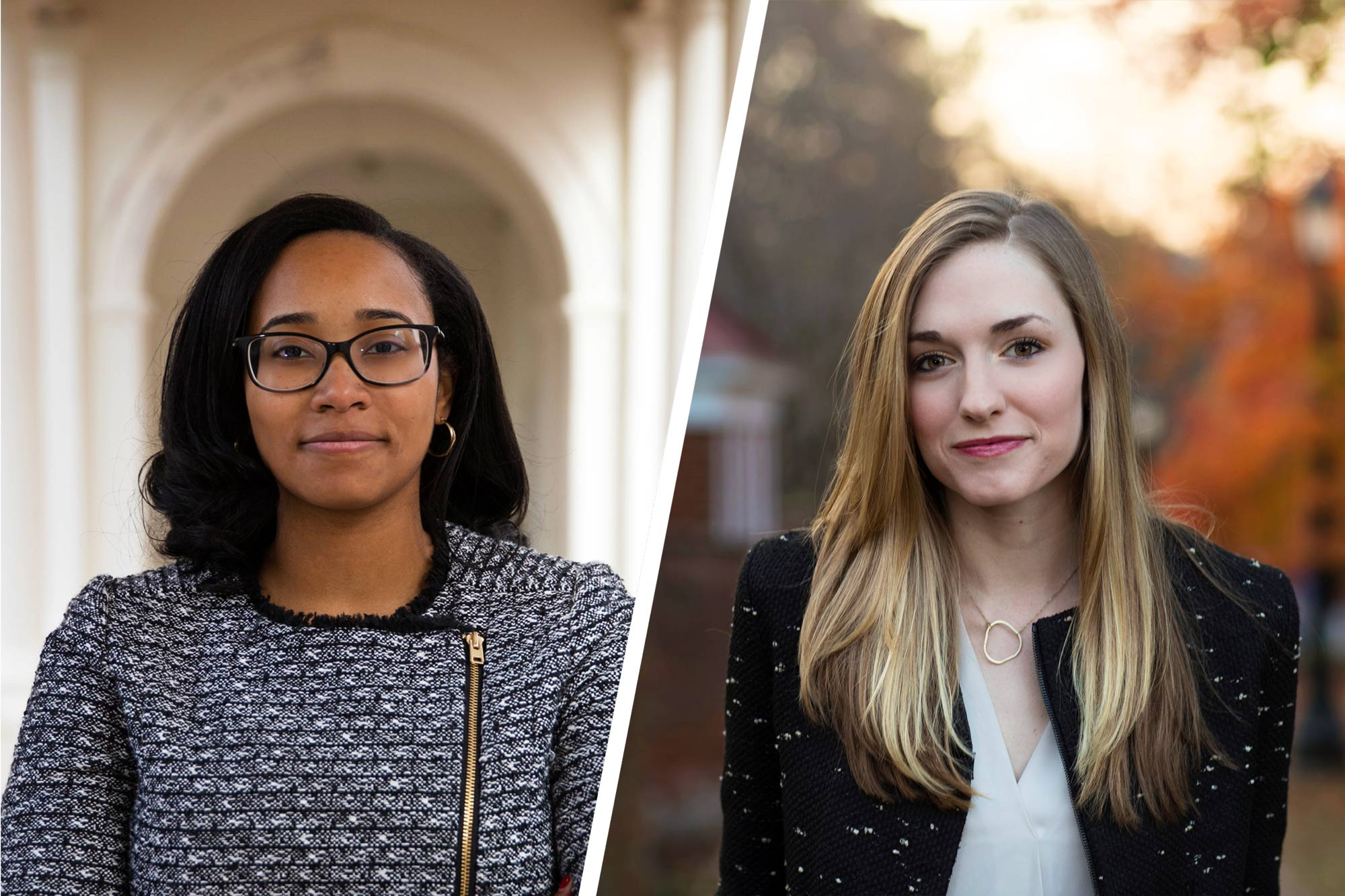 Aryn Frazier will pursue a Master of Philosophy degree in comparative politics and Lauren Jackson will pursue a Master of Philosophy degree in international relations, both at the University of Oxford, with their Rhodes Scholarships.