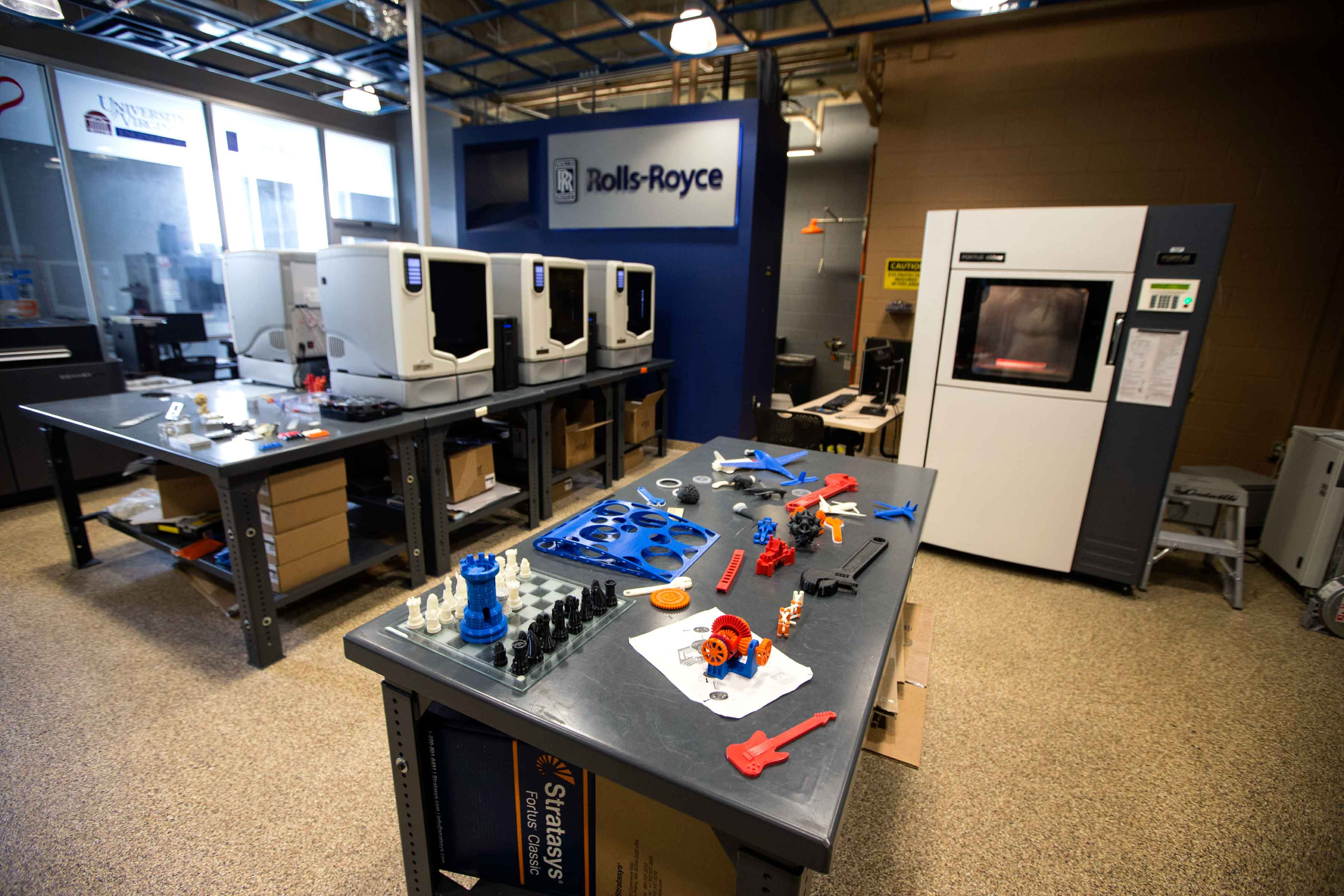 The Rapid Prototyping Lab provides students, faculty and staff with several different kinds of 3-D printers.