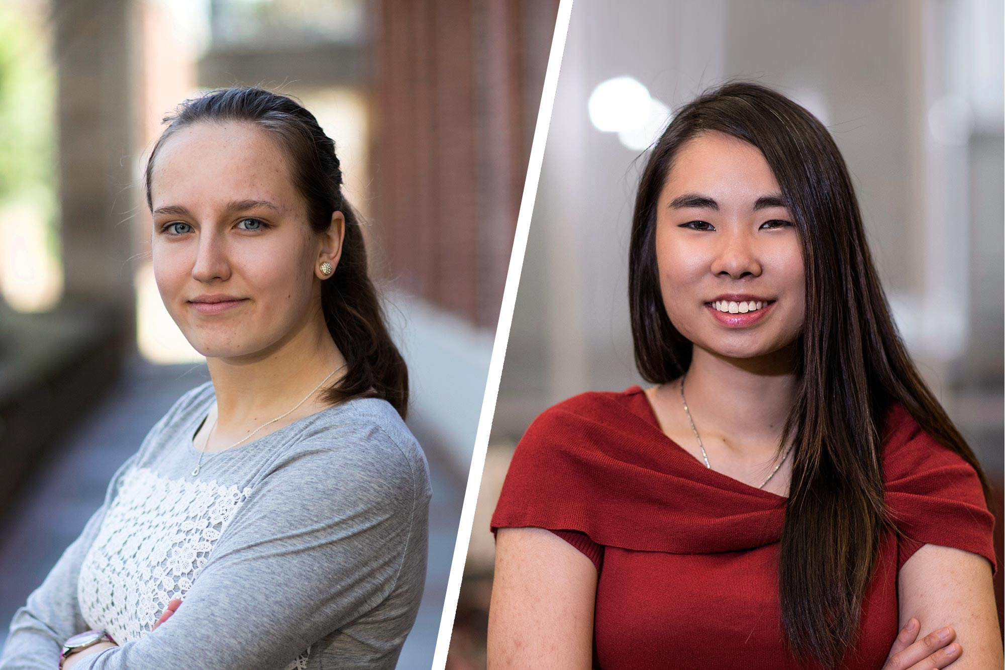 Beckman Scholars Caroline Kerr is entering the Medical Scientist Training Program program at the University of Wisconsin-Madison and Yi-Ting Liu, plans to pursue a Ph.D. in neuroscience.