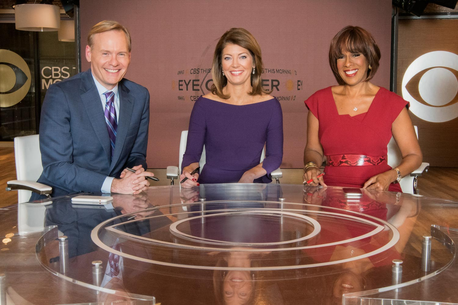 """CBS This Morning"" co-hosts Norah O'Donnell, Gayle King and John Dickerson."