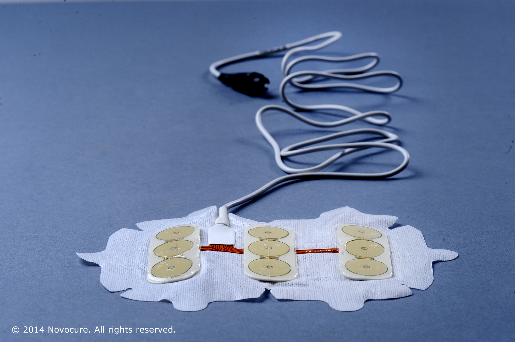 Optune works by emitting low-level, alternating electrical fields through four electrode pads attached to the scalp.