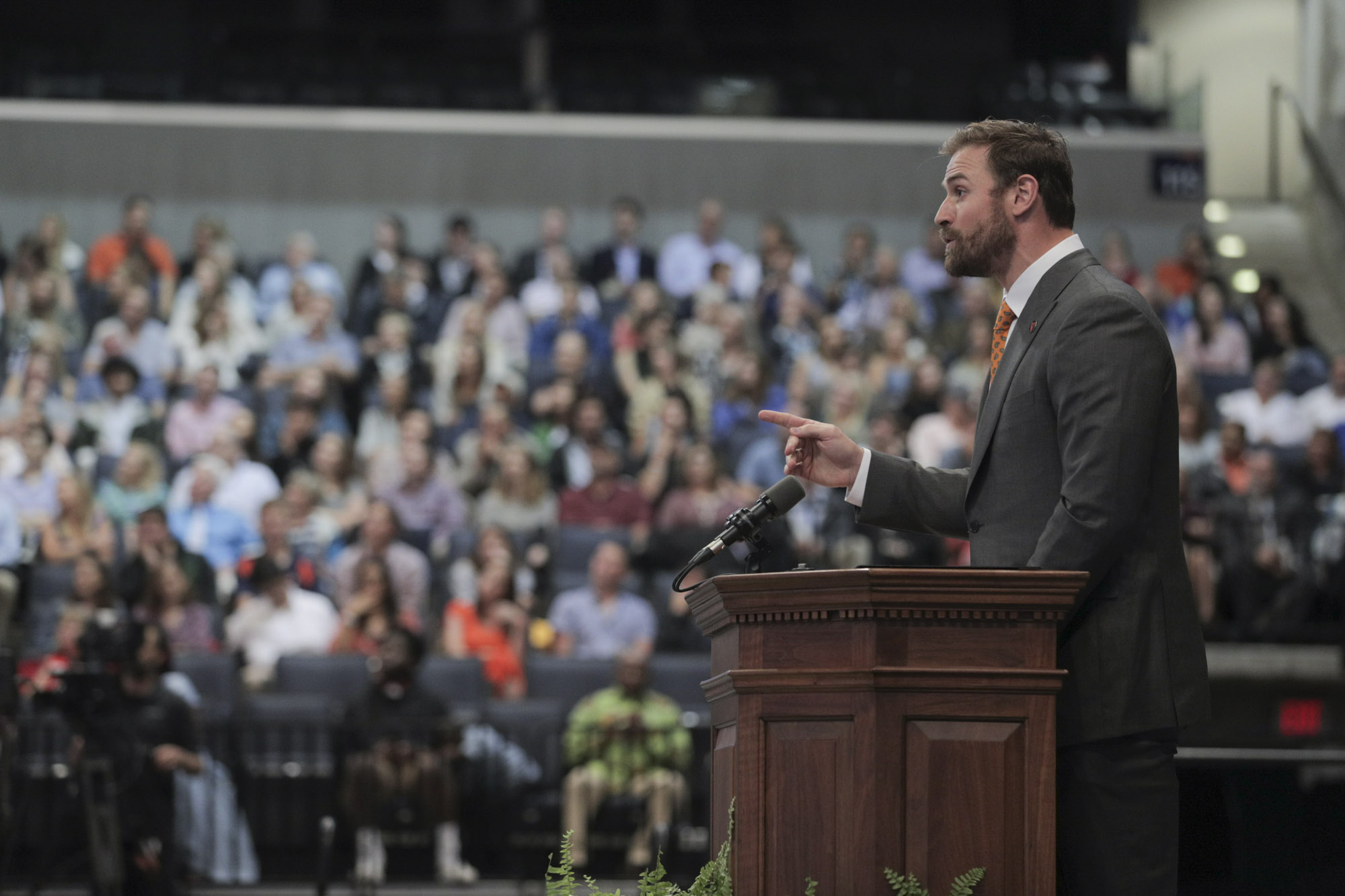 Long urged the soon-to-be-graduates to boldly seek new challenges, even when others might see them as already successful. (Photo by Sanjay Suchak, University Communications)