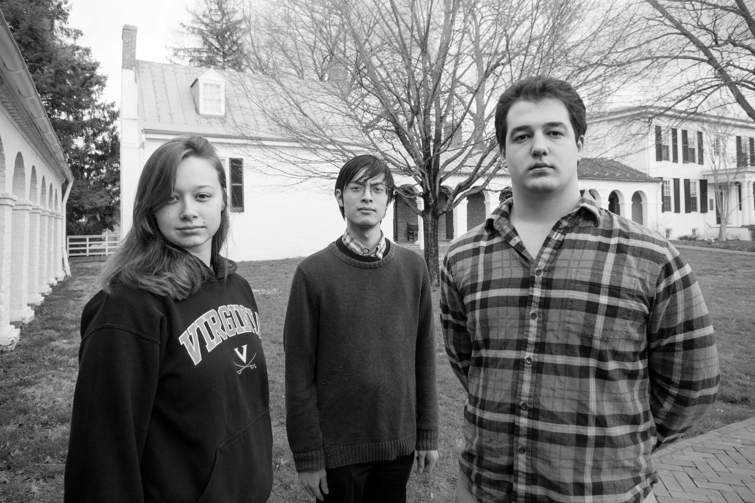 From left to right, Caitlin Muir, Daniel Van-Nostrand and Ben Camber began working on the film project this spring. Photo by Eduardo Montes-Bradley.