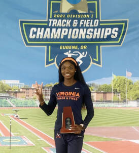 Graduate student Andrenette Knight took home the bronze medal in the 400-meter hurdles. (Contributed photo)