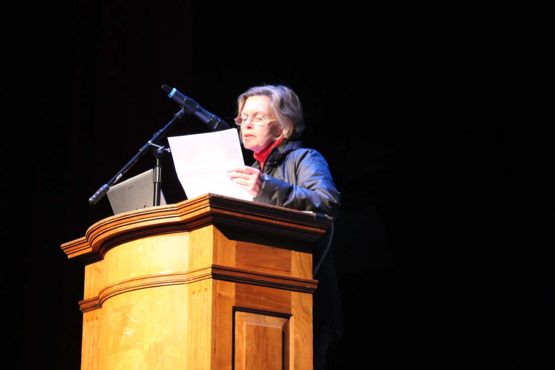 City Councilor Kathleen Gavin speaks at the kickoff meeting. (Photo contributed by Vortex Communications Team)