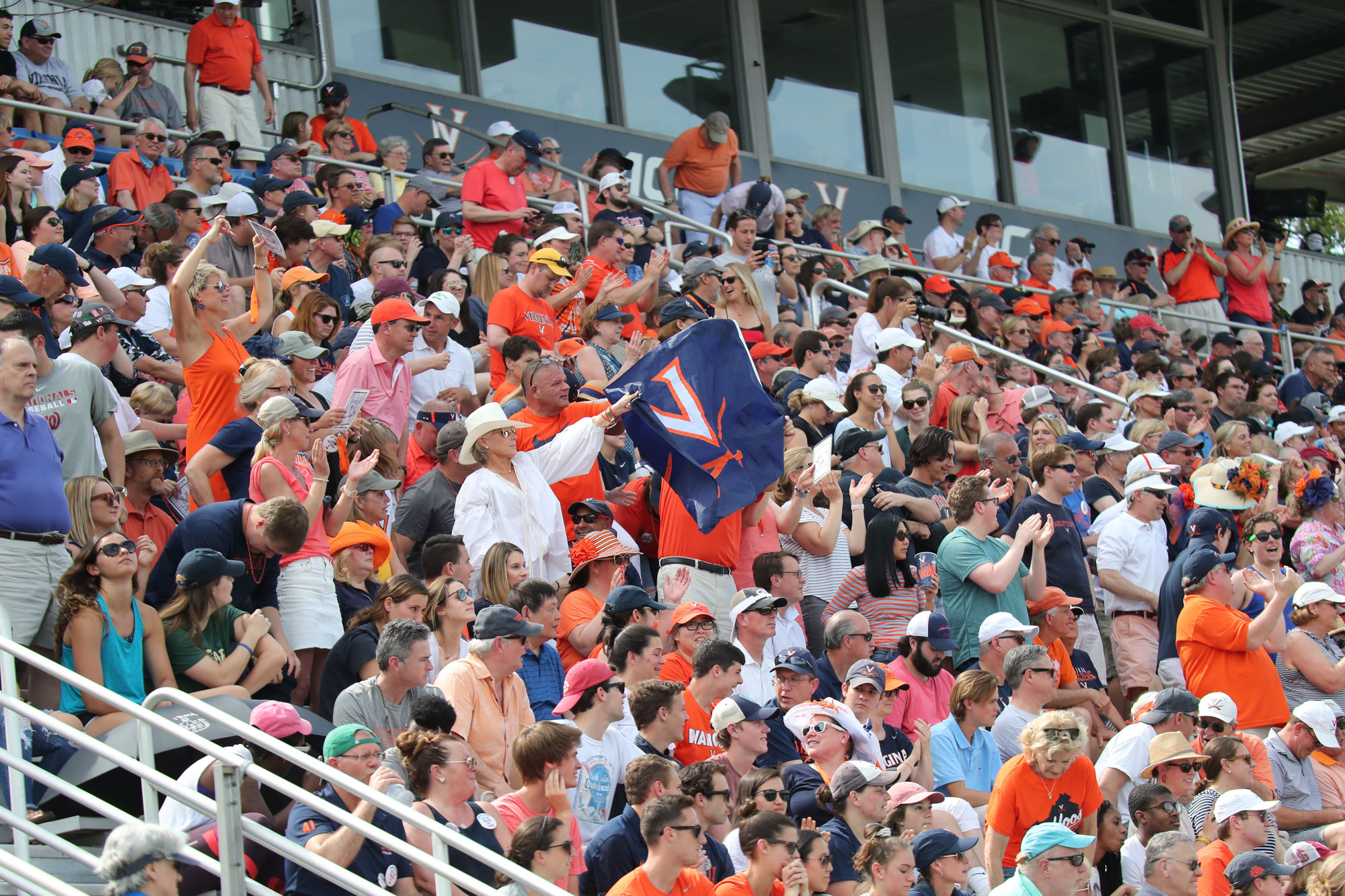 The crowd of 4,489 didn't hold back, cheering on the Hoos the whole time. (Photo by Matt Riley, UVA Athletics)