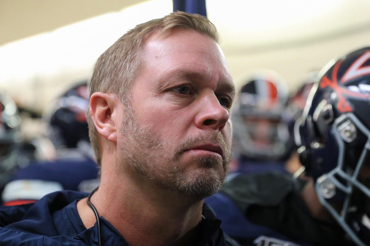 """""""We're certainly anxious to play and represent our school, our institution and our side of the league in the best way that we can,"""" said Bronco Mendenhall UVA's head football coach."""