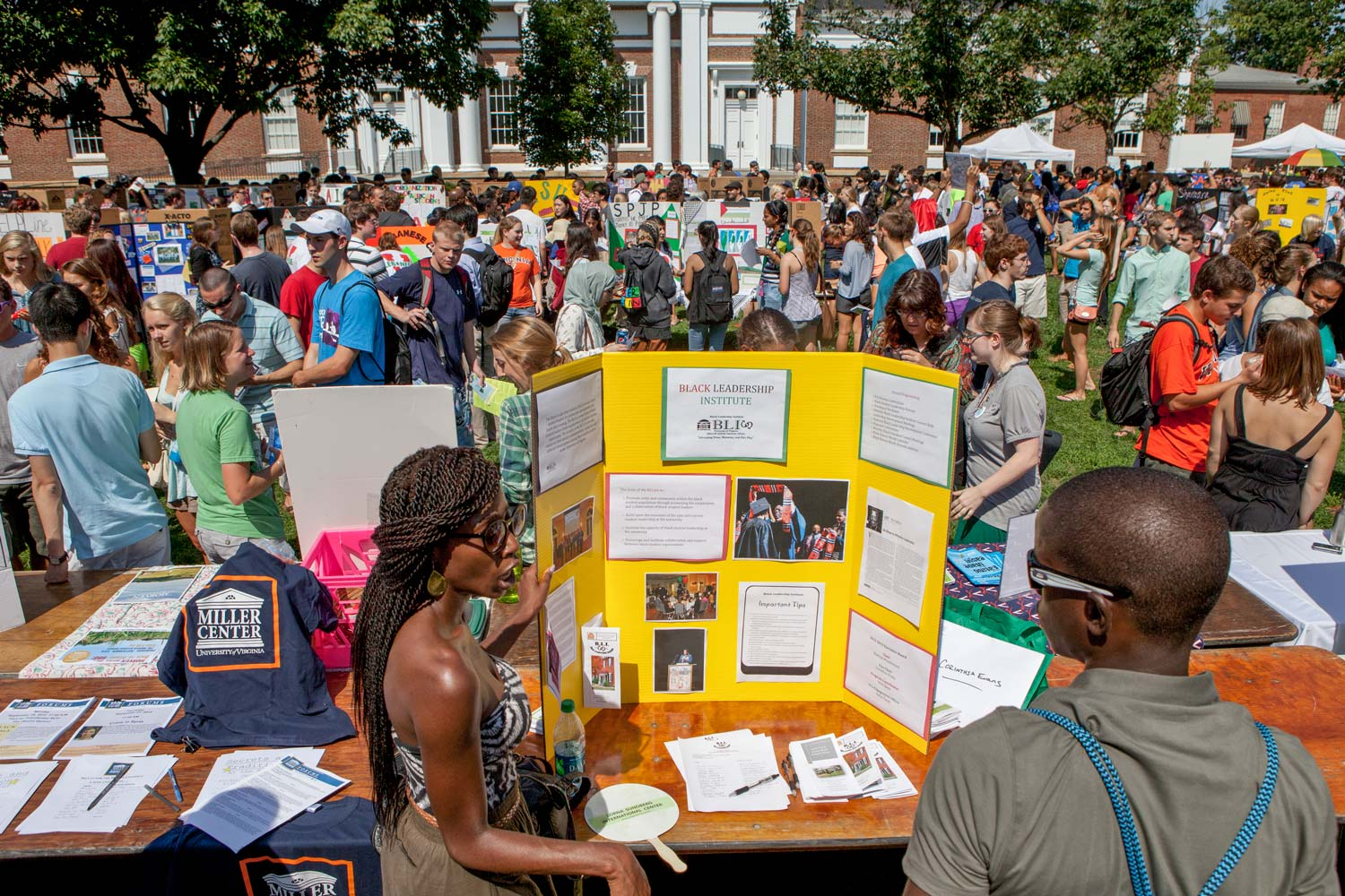 The Fall Activities Fair gives students a taste of most of the extracurricular activities available to them.
