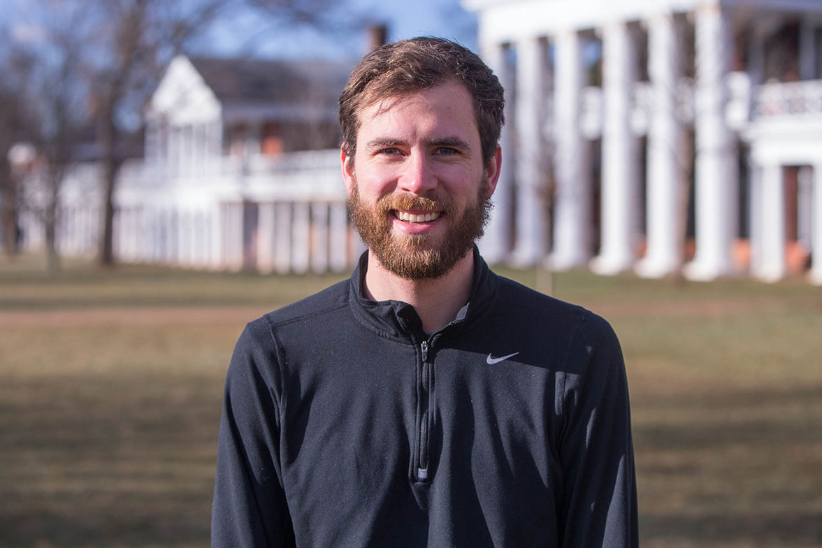 Adam Thies, a graduate student in the Curry School of Education, founded Jefferson Jogs, combining his love of history and running.