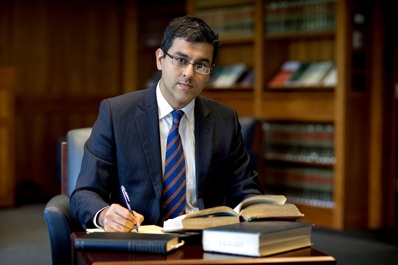 Among new School of Law professor Aditya Bamzai's academic interests is the growing field of cyberlaw.