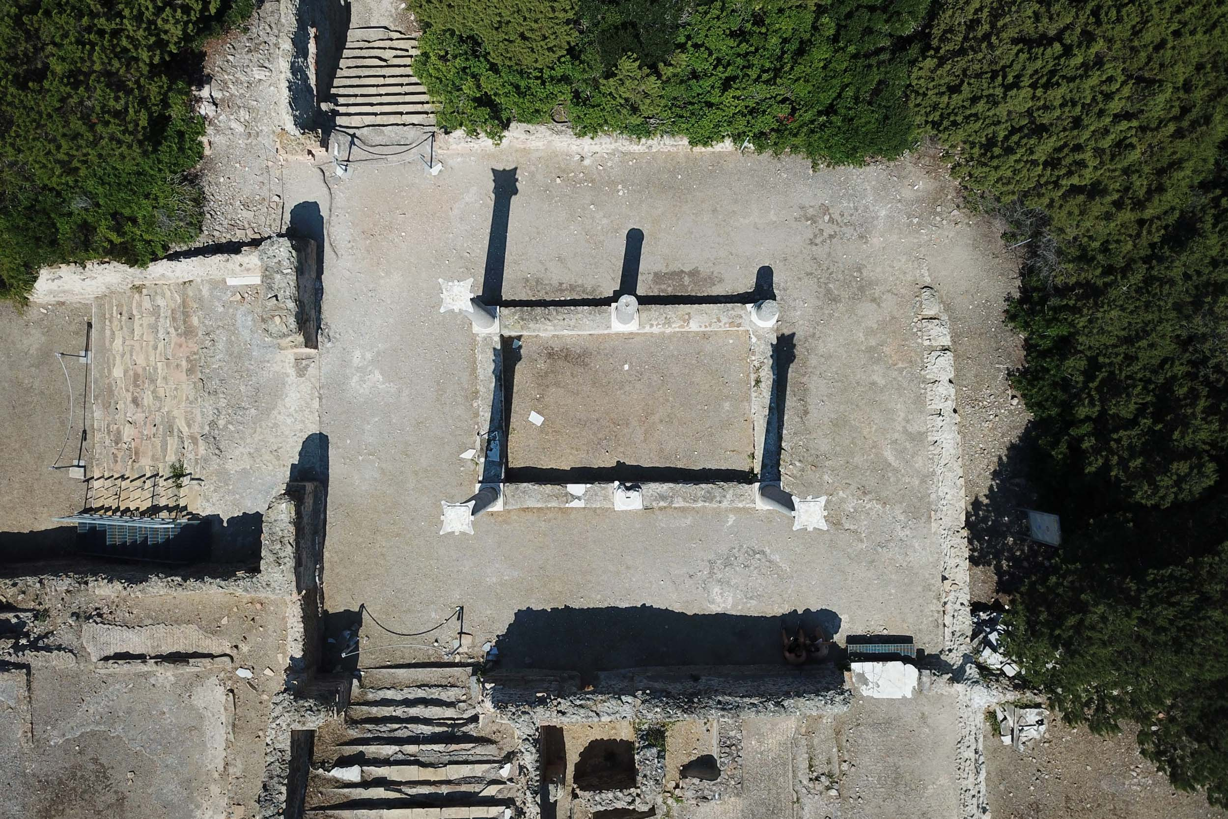 Giorgis' team used drone photography to capture the ruins from the air, compiling a detail record of their layout and current state.