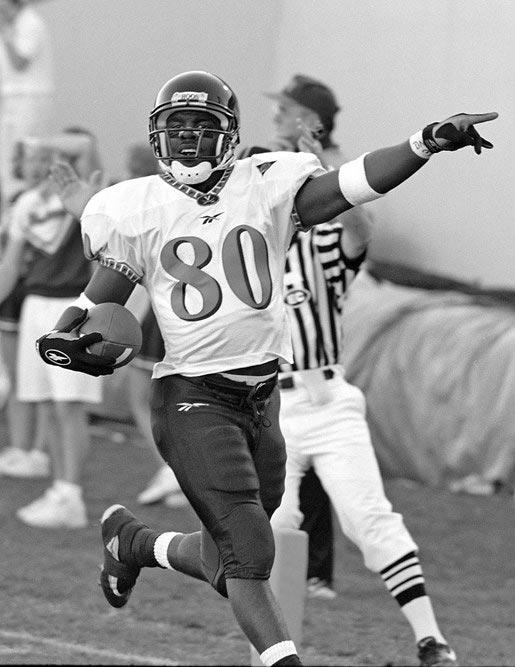 Hawkins played both receiver and cornerback at UVA, presaging his career as a two-way player in the Arena Football League.