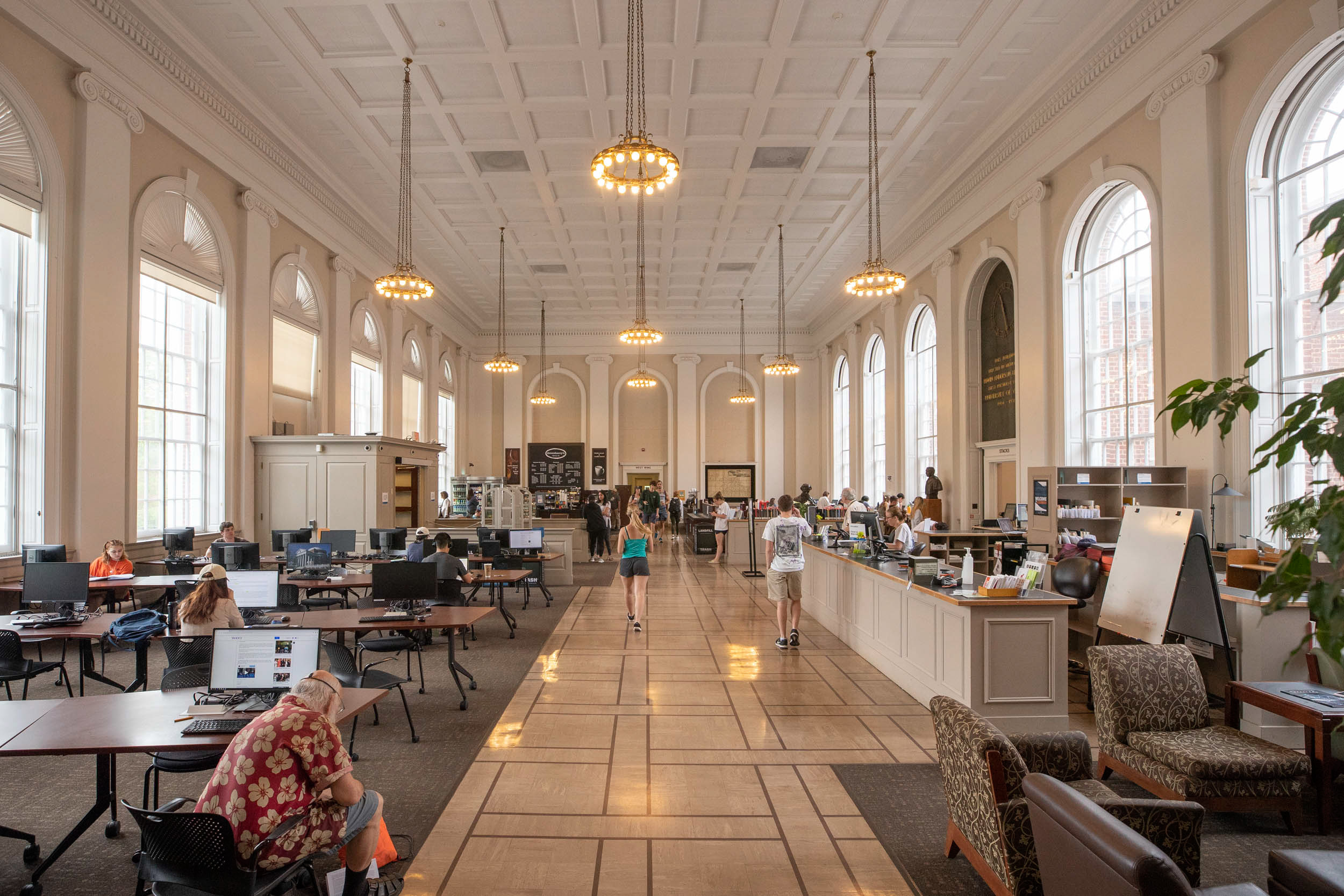 The renovation will take advantage of natural light in ways Alderman Library's Memorial Hall does now.