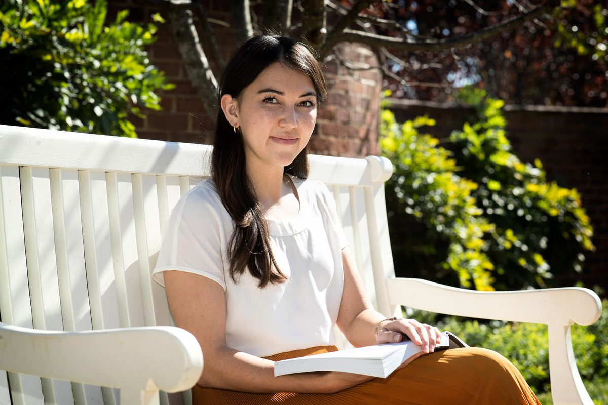 """Graduate student Alexandra Pentel founded """"If You're Reading This"""" in 2016. The site also connects students to peer contacts, students who are trained to be listening ears."""