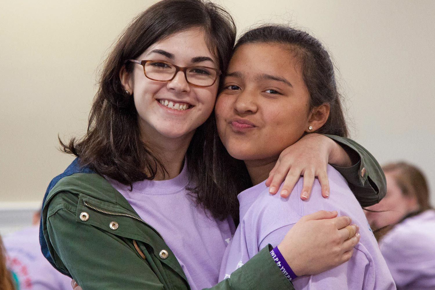 Mentor Amalia Garcia-Pretelt, left, and Jouett Middle School seventh-grader Erika Marquez last year.