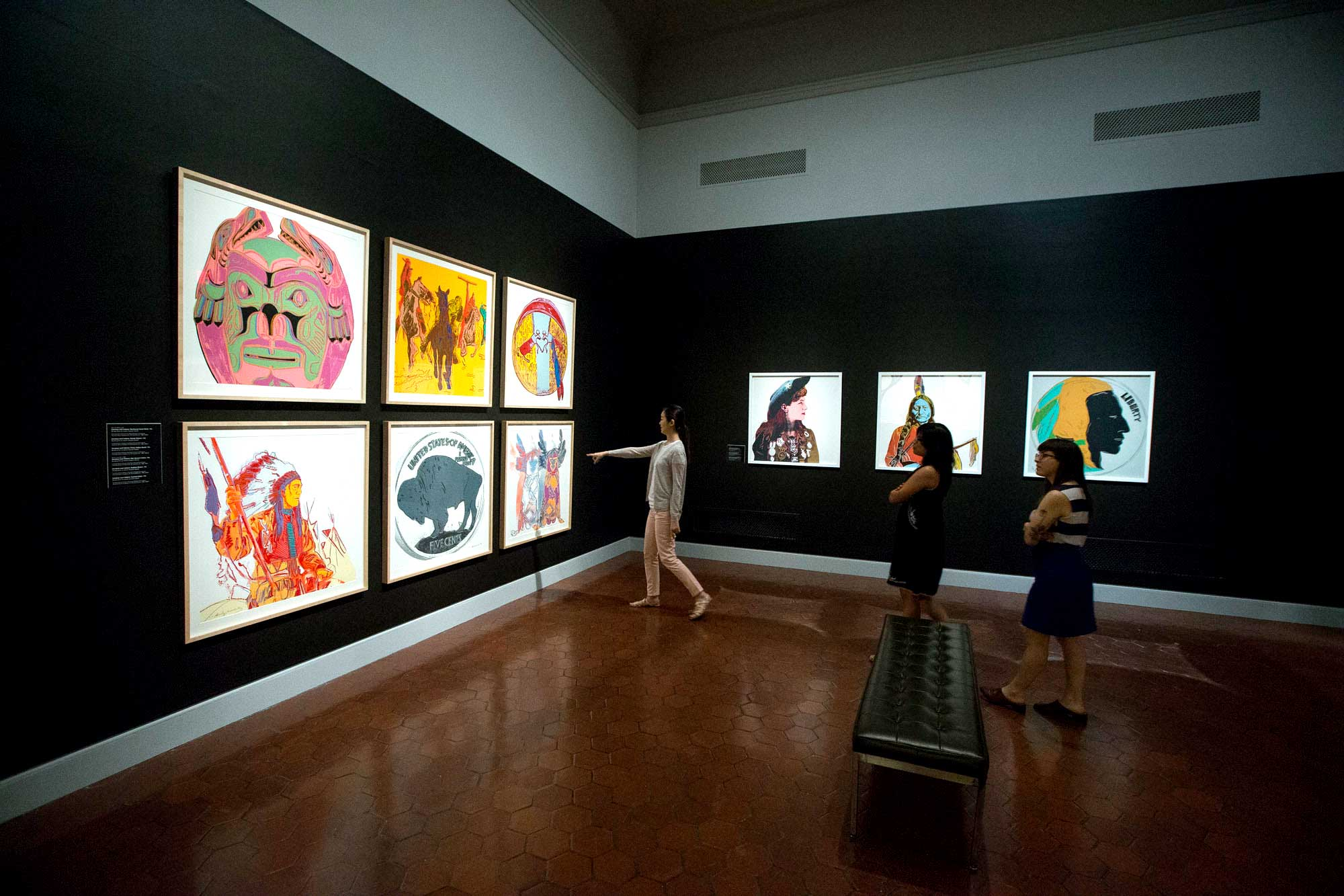 The Warhol exhibition was on display from May until September. (Photo by Dan Addison, University Communications)