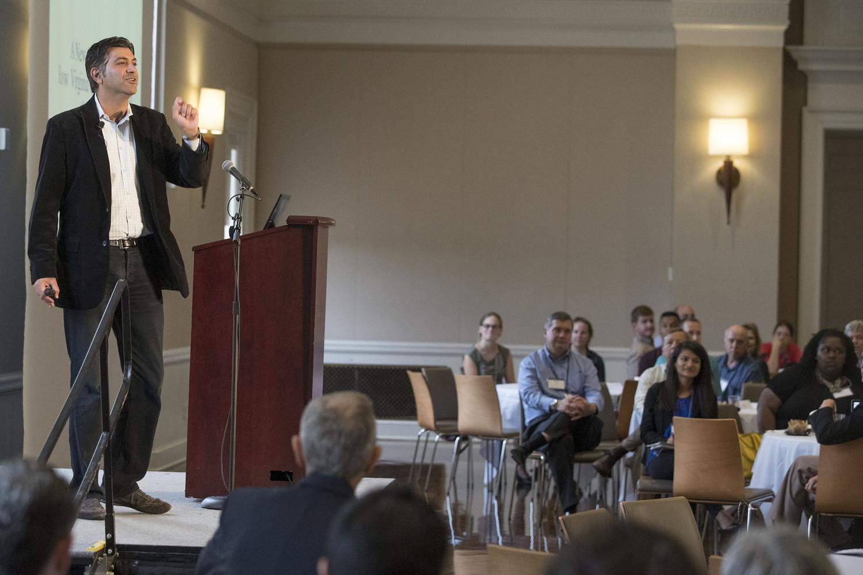 Aneesh Chopra, former chief technology advisor to President Obama, presented the morning keynote address at Datapalooza.