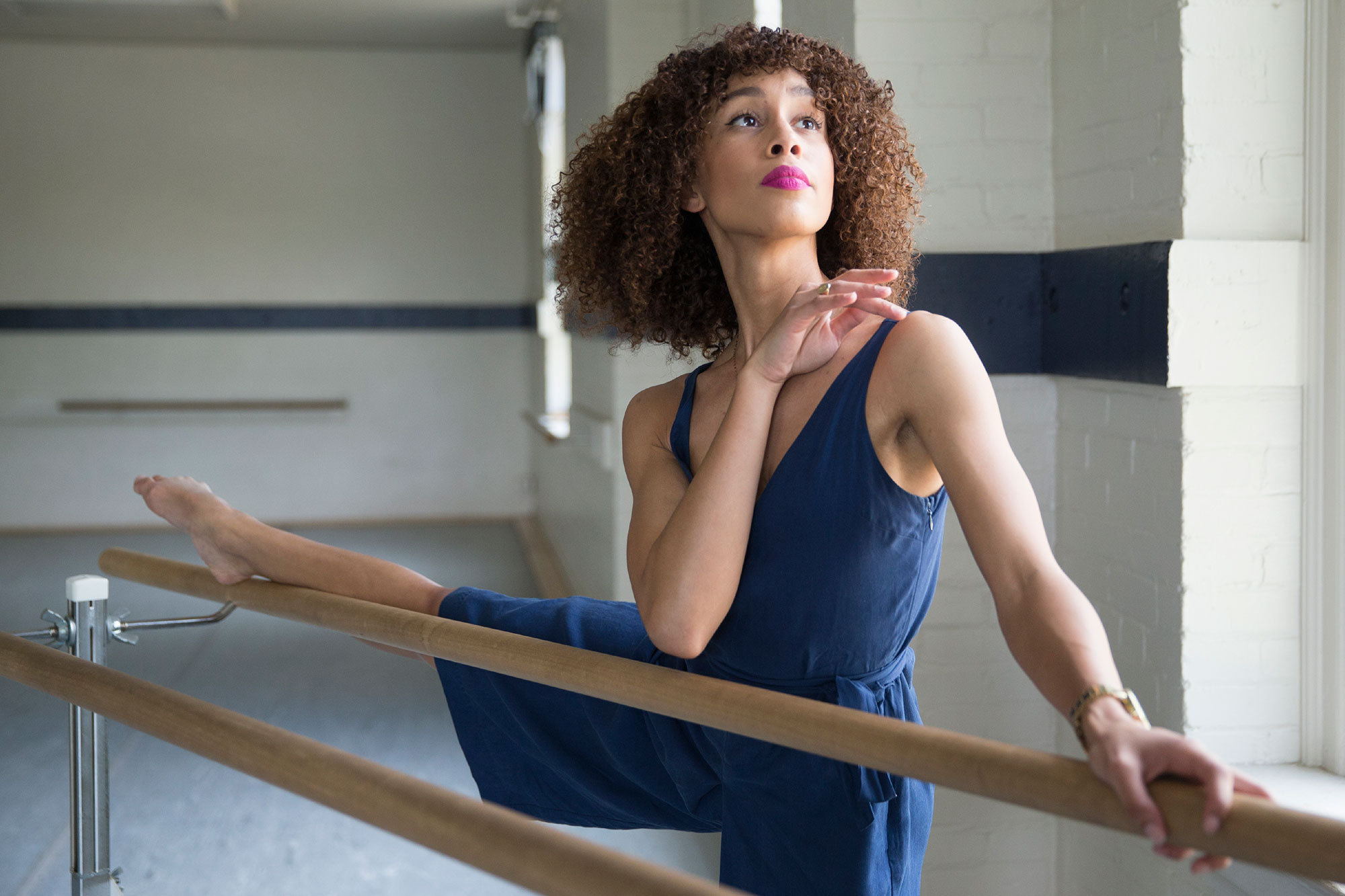 Russell, who began dancing at the age of 8, is trained in both ballet and modern dance.