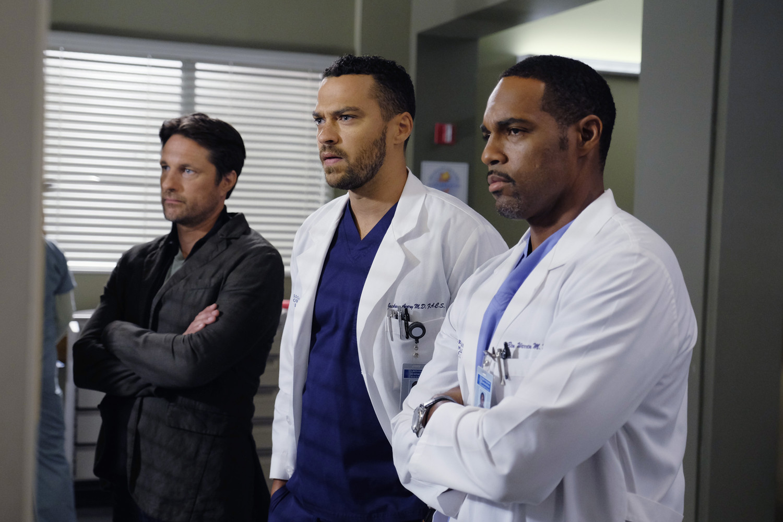 "Jason George (right) stars as Dr. Ben Warren in ABC's ""Grey's Anatomy."""