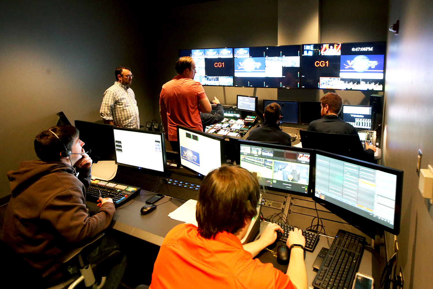 With the dawn of the ACC Network demanding greater video production capacity, Athletics has set up a control room that can produce three high-definition games at a time.