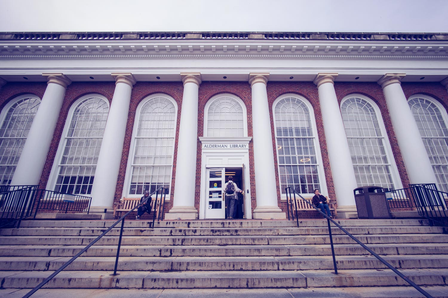 Alderman Library is scheduled to undergo a major renovation in the near future.