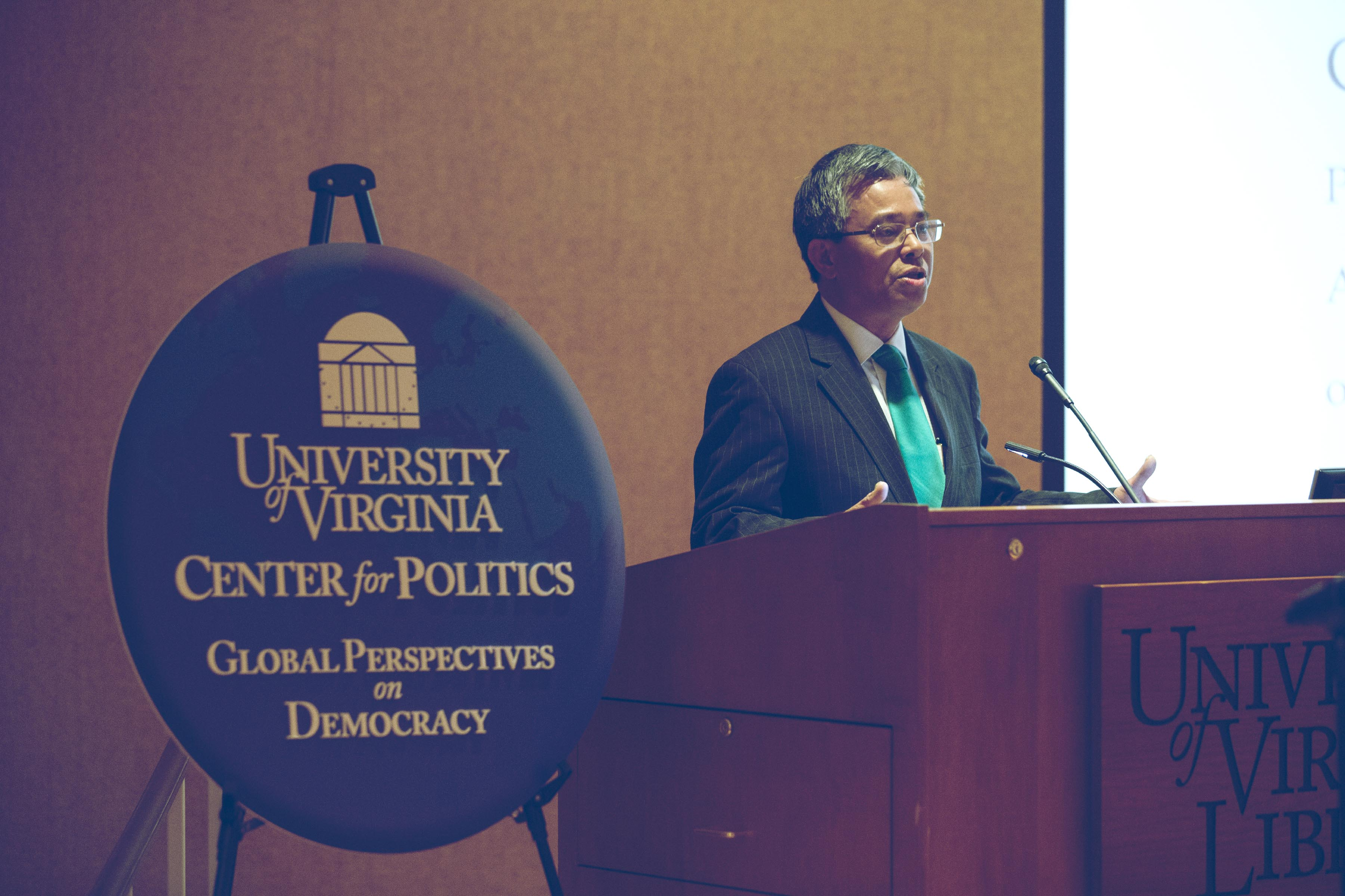 Vietnam's ambassador to the United States, Pham Quang Vinh, spoke at UVA on Tuesday. (Photo by Dan Addison, University Communications)