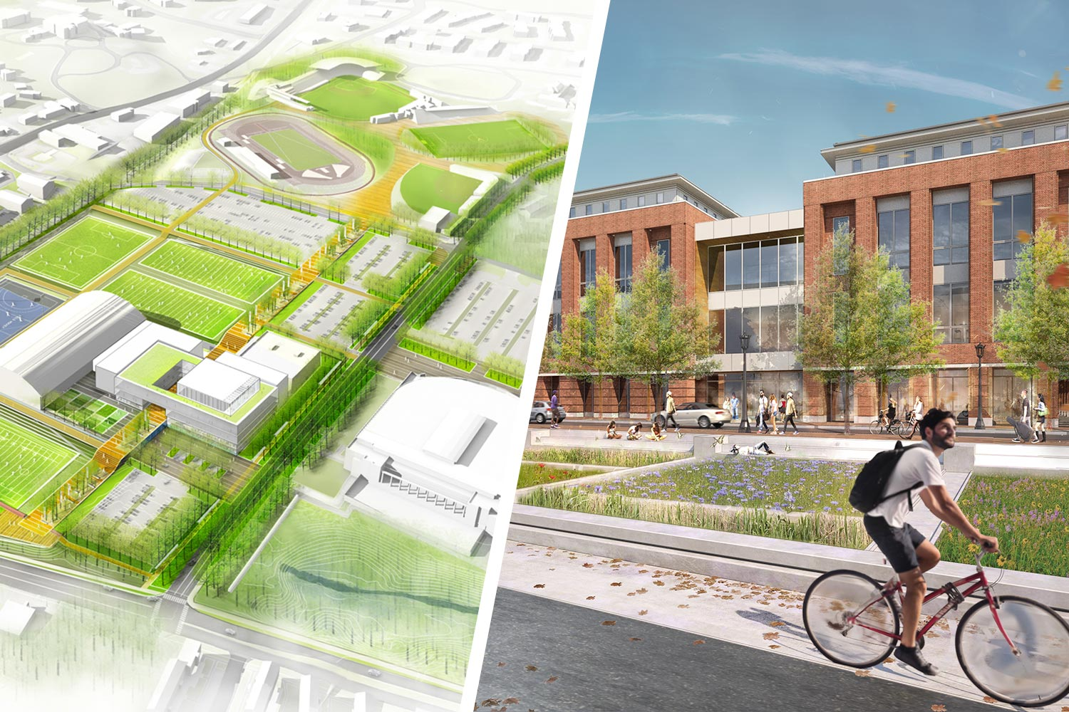 The Athletics Master Plan includes several new facilities and programs supporting student-athletes; the new Student Health and Wellness Center will include numerous health care services, a traveler's clinic, a retail pharmacy and other resources.