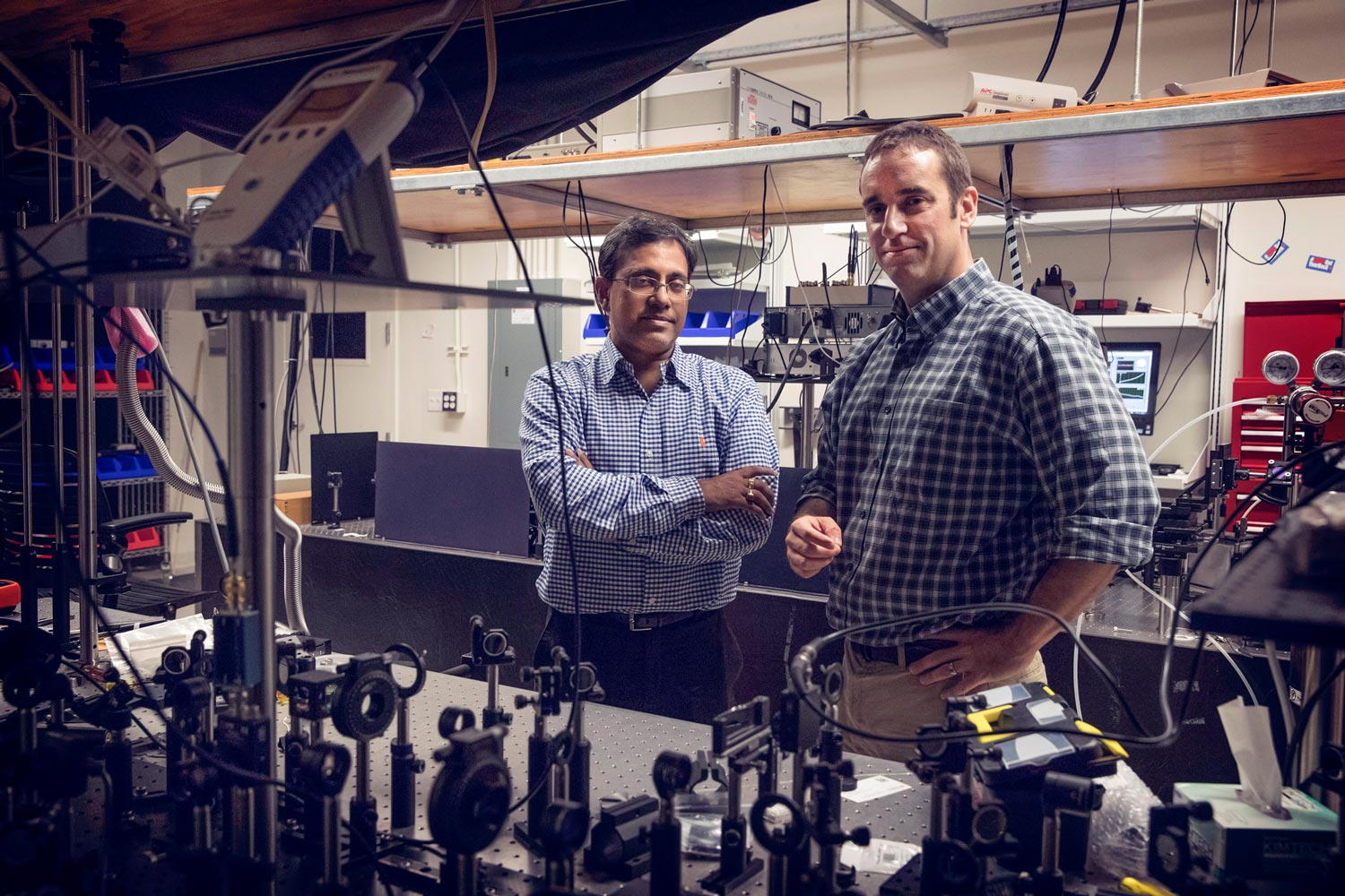Avik Ghosh, left, and Patrick Hopkins, are co-directors of the MIST Center, where UVA researchers help solve practical problems for industry.