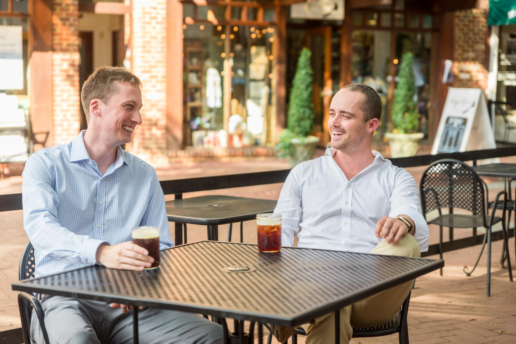 Darden student Whit Hunter, right, founded the nonprofit fundraising platform BetterWorld with fellow UVA alums Ben Yobp, left, and Hunter's brother, Colin Hunter. (Hunter and Sarah Photography)