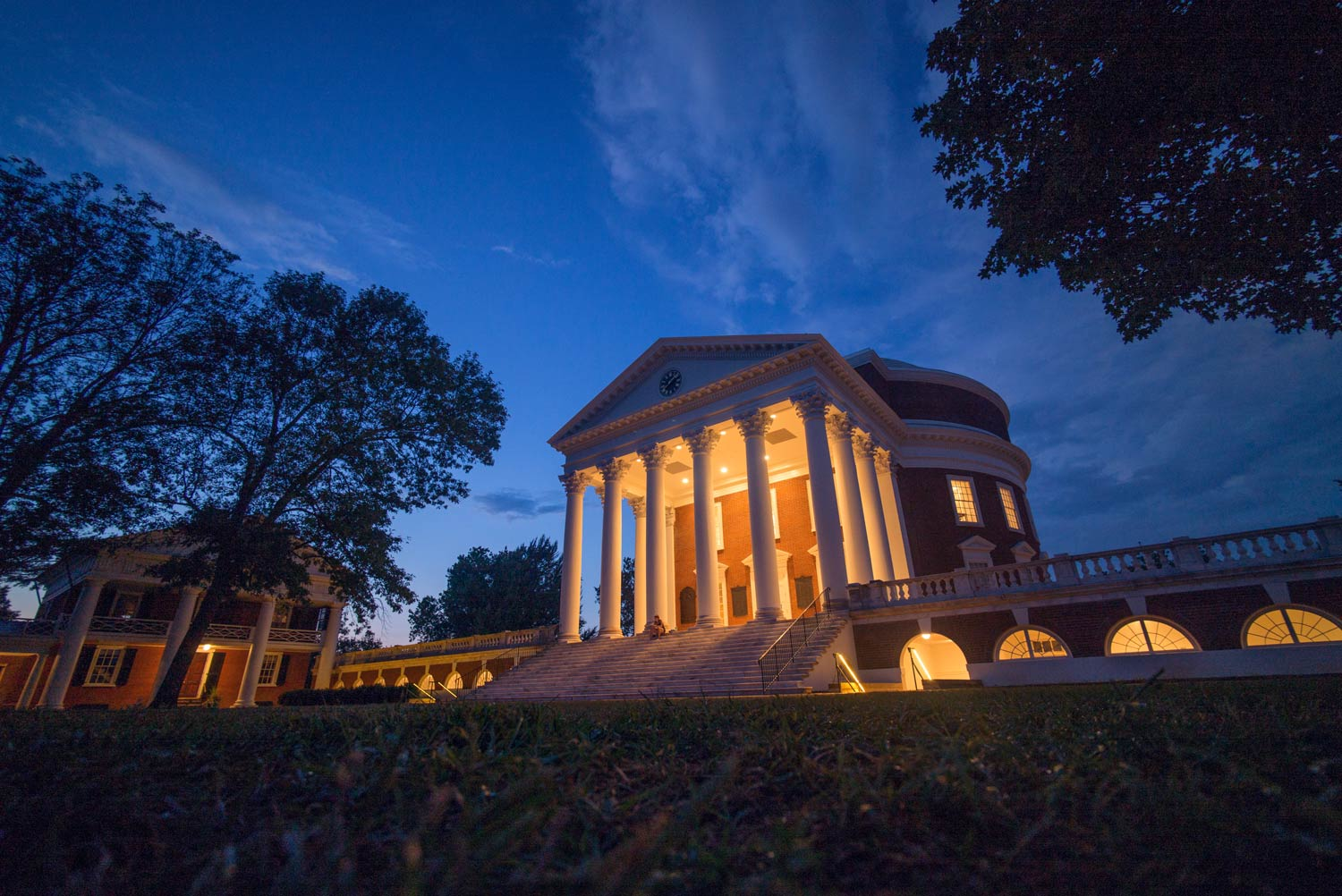 UVA's Lawn and Rotunda at Night