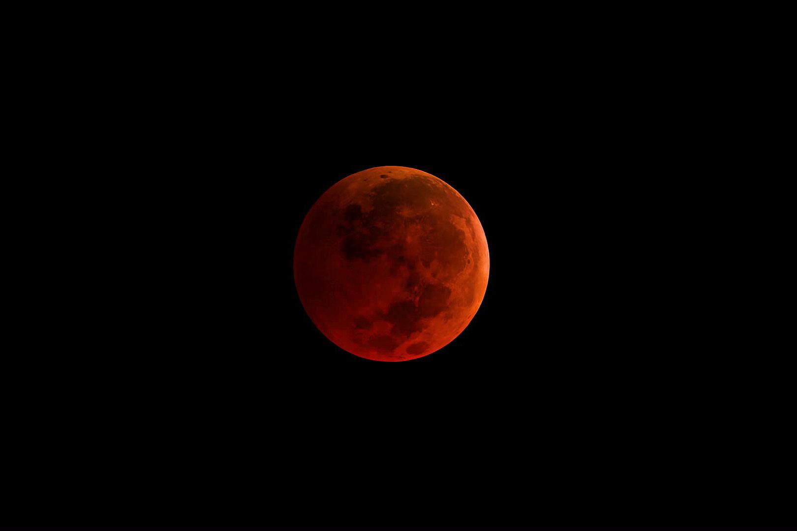 A total lunar eclipse.