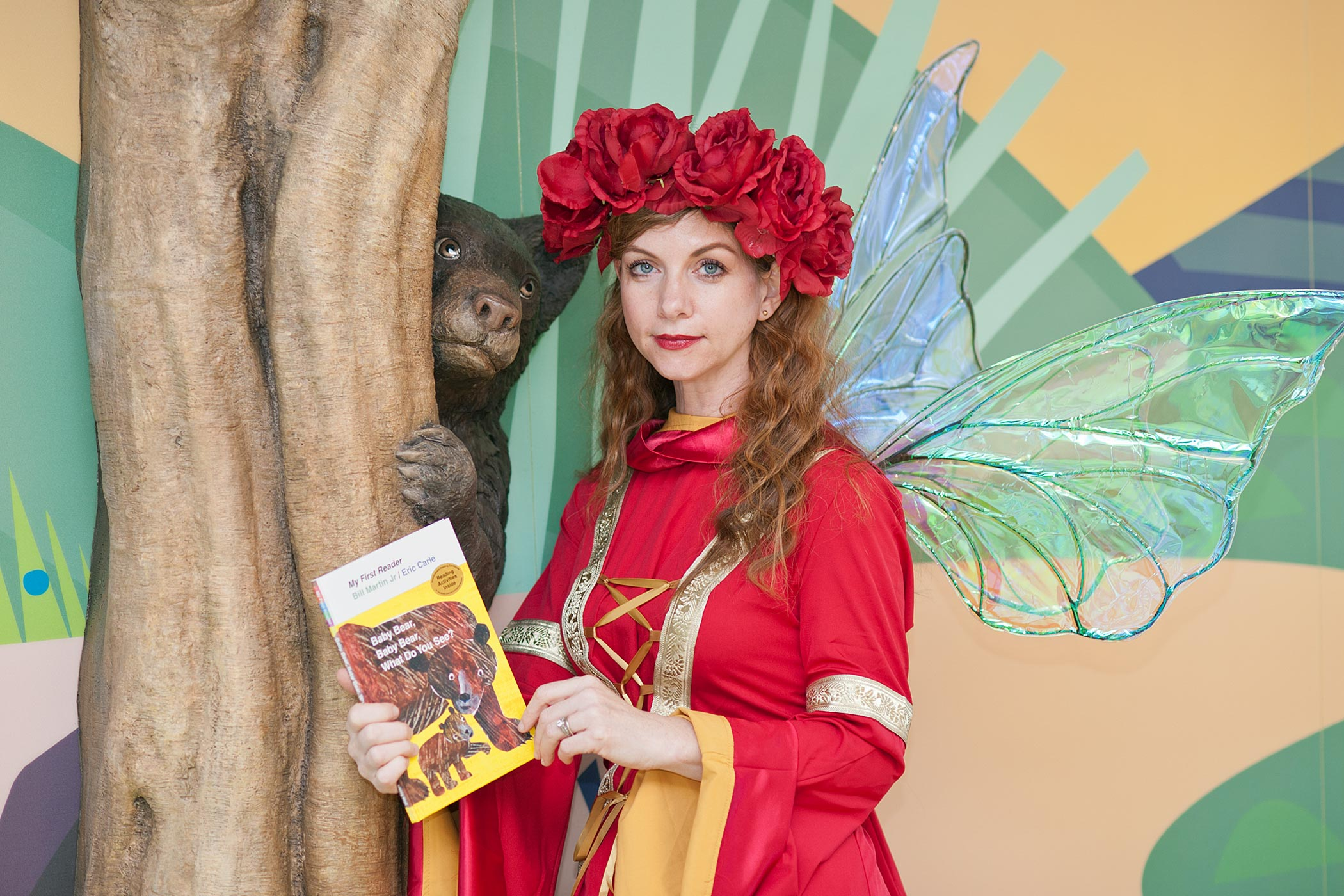 Librarian Kimberley Barker becomes Briar the Book Faery when she reads to children at the UVA Medical Center.
