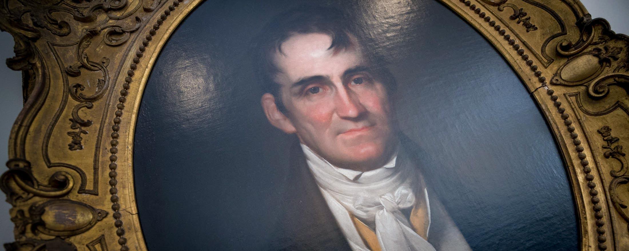 Framed oil painting of Joseph Carrington Cabell