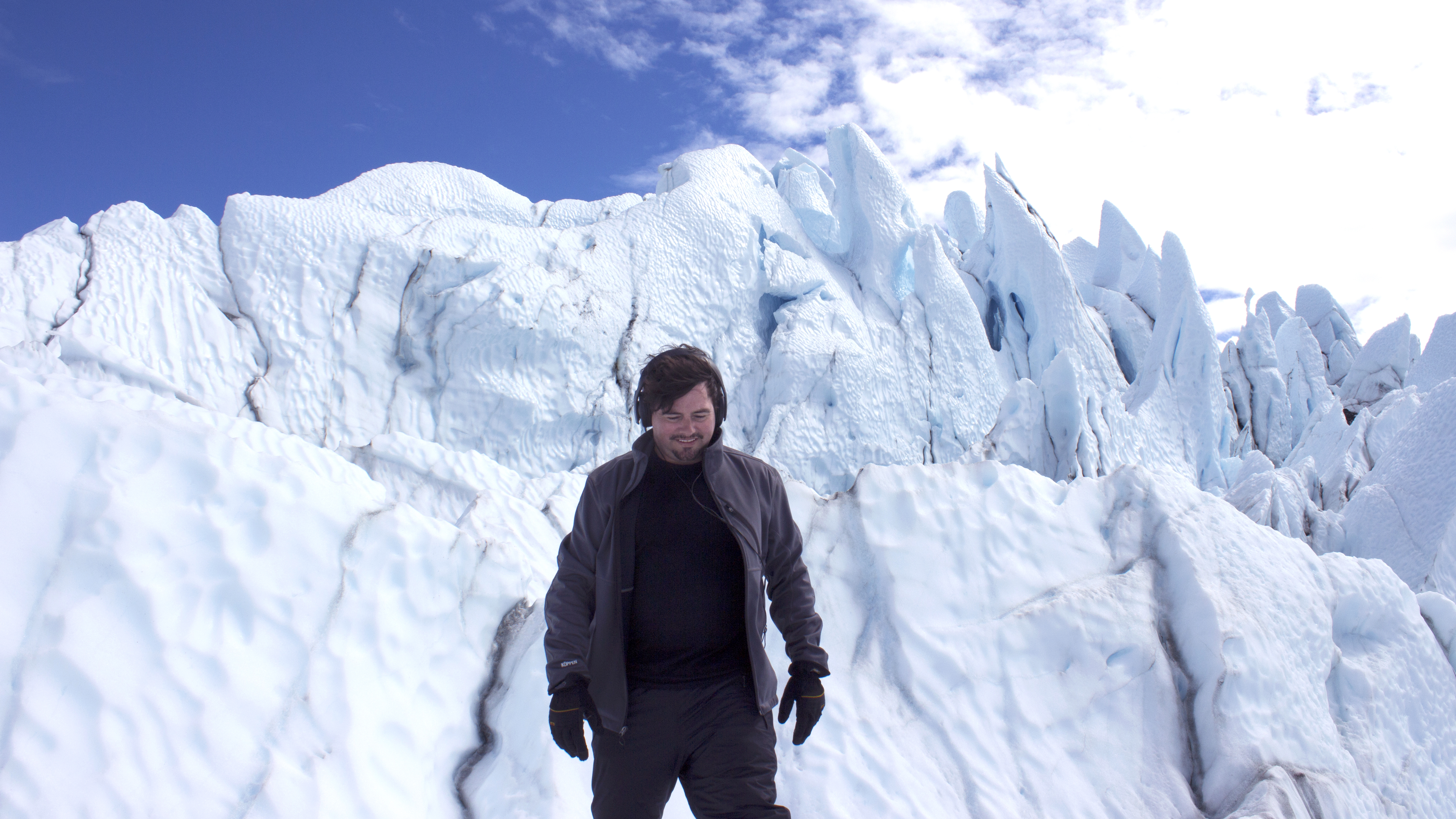 Matthew Burtner, incoming chair of U.Va.'s music department, records sounds on glaciers in his native Alaska and edits them to create original compositions. (Photo provided by Matthew Burtner.)