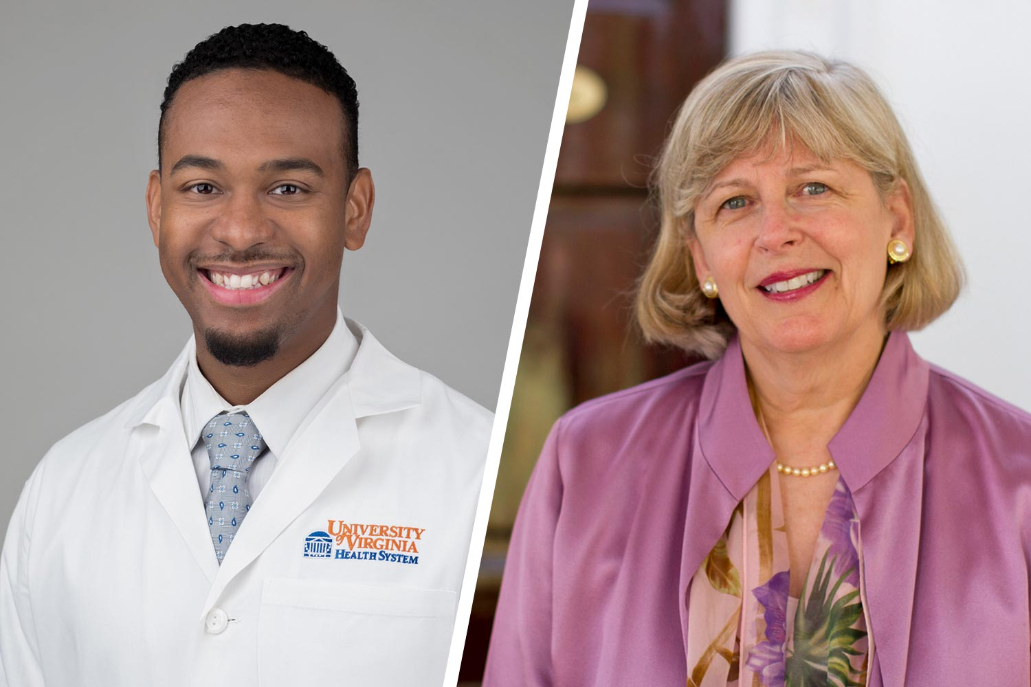 Medical School professor Dr. B. Cameron Webb, left, will address Arts & Sciences graduates on May 18, while retiring School of Nursing Dean Dorrie Fontaine will speak to the rest of the Class of 2019 on May 19. (Contributed photos)