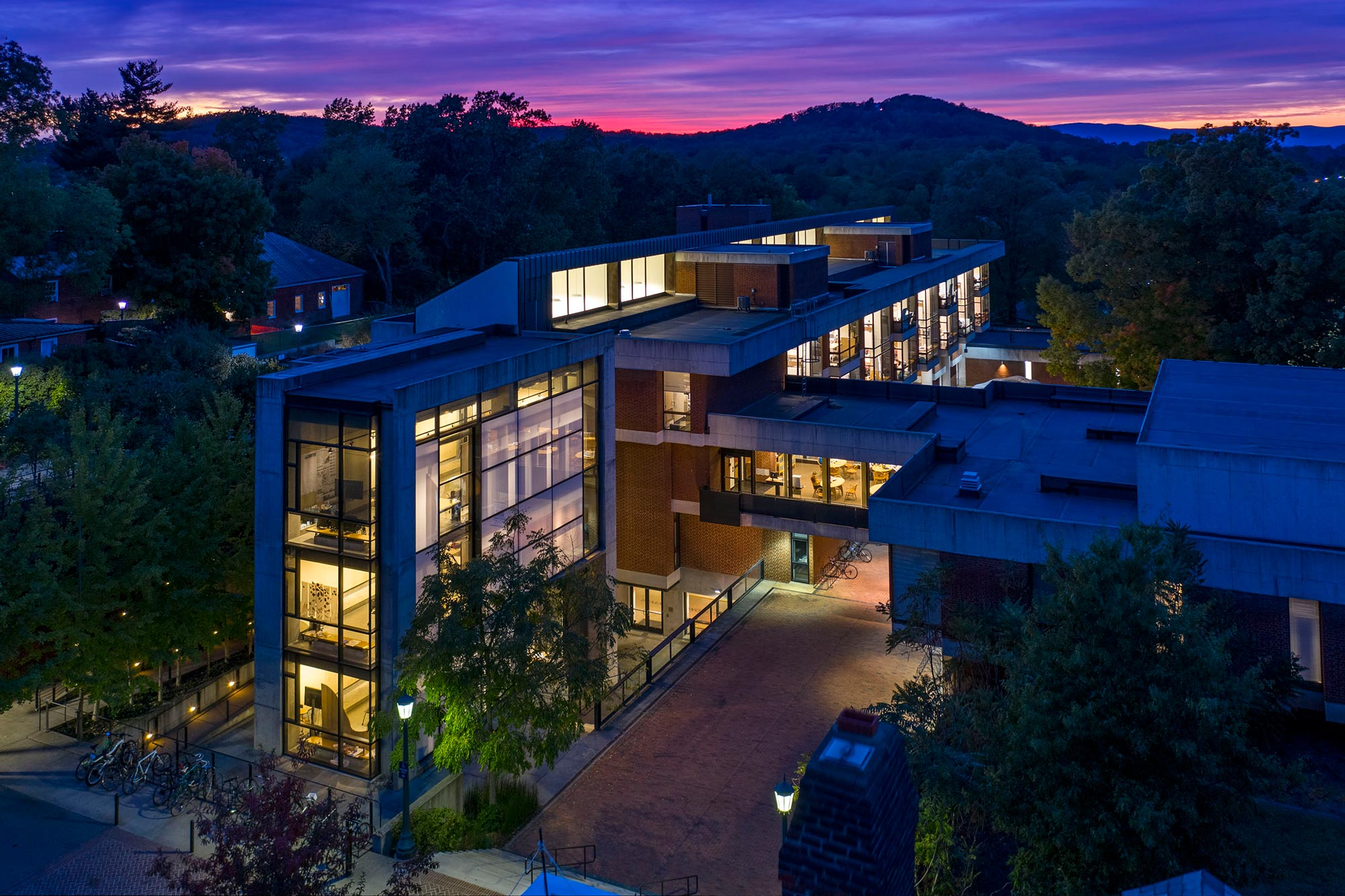 Cambell Hall is home to the University of Virginia's School of Architecture.