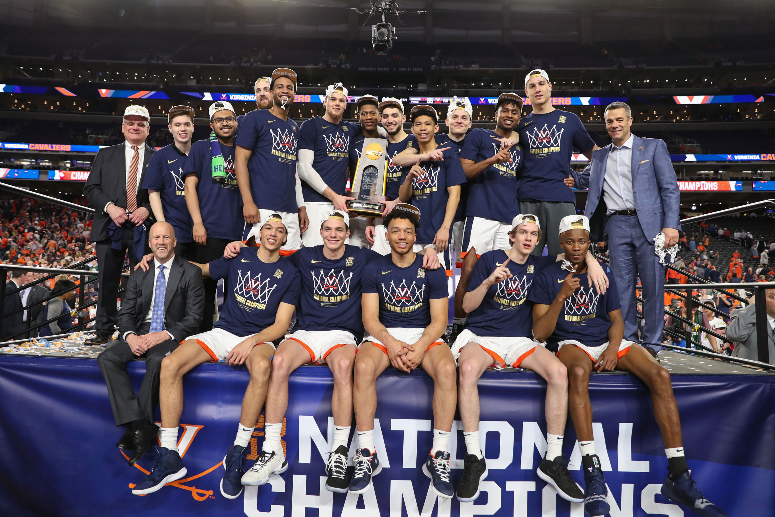 NCAA championships in basketball, above, and lacrosse boosted UVA to its second Capital One Cup for men's sports in five years. (Photo by Matt Riley, UVA Athletics)