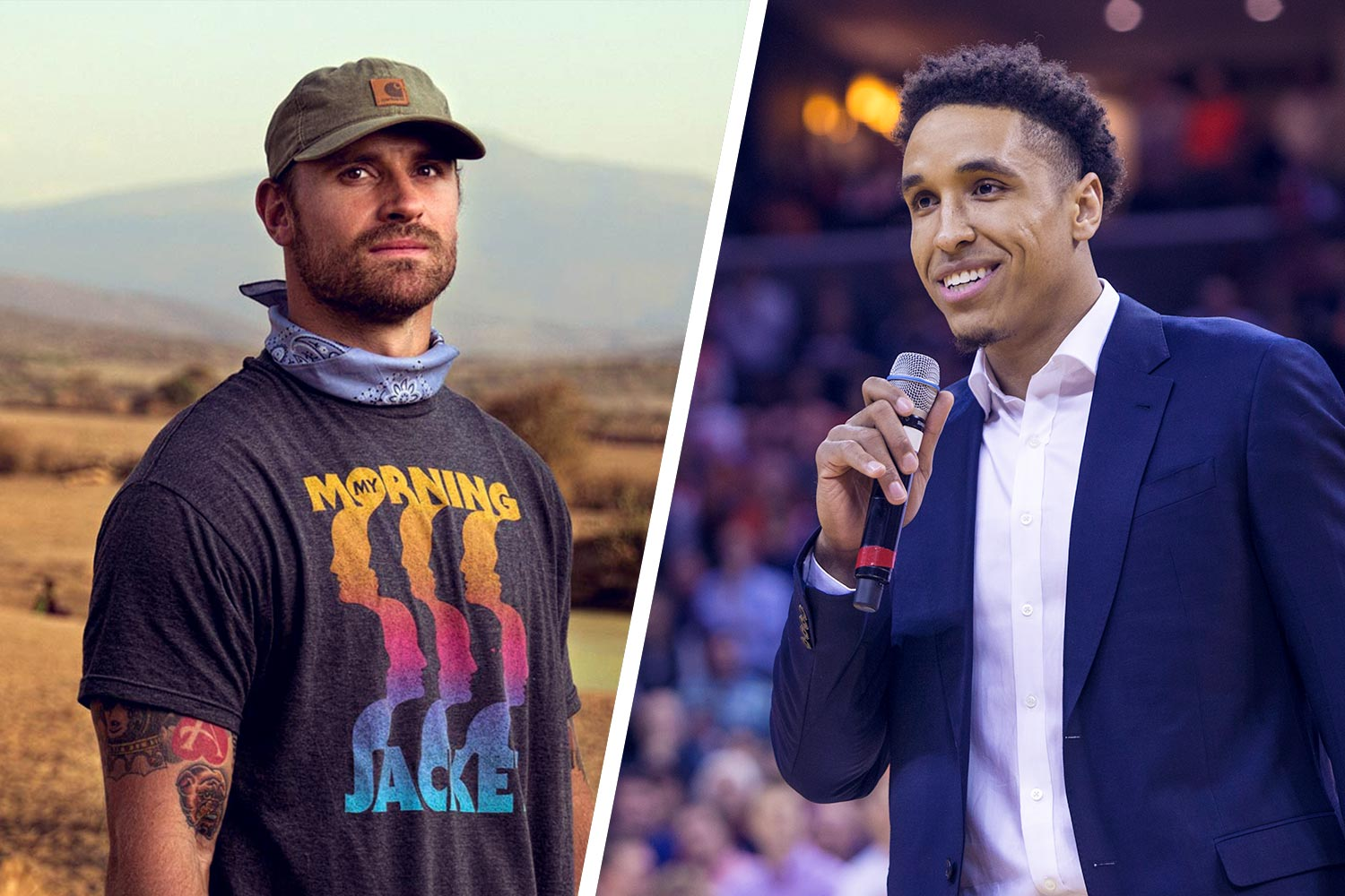 Two former UVA greats – NBA star Malcolm Brogdon, right, and Super Bowl champion Chris Long – are teaming up.