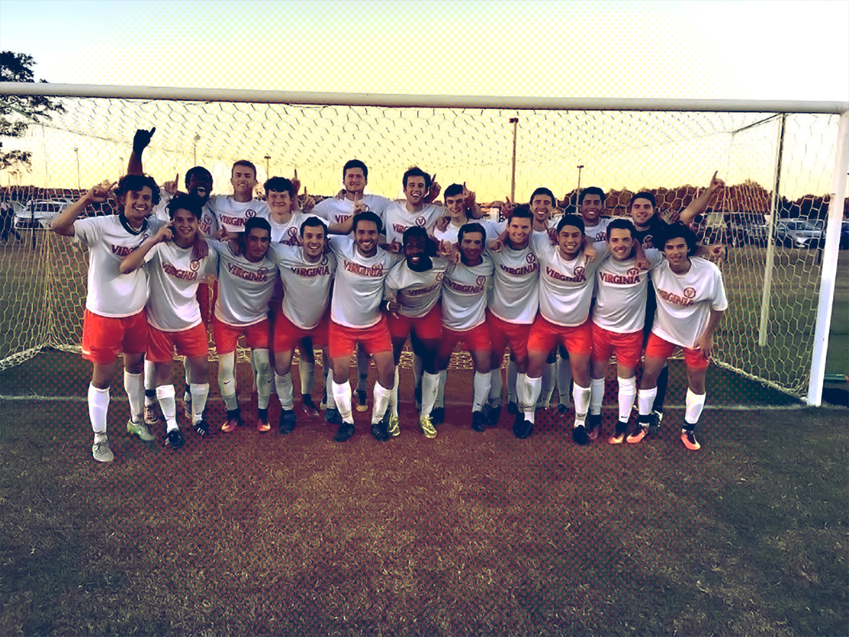 Members of the men's club soccer team