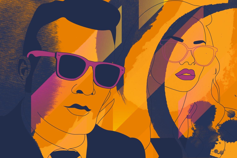 Graphic pop art