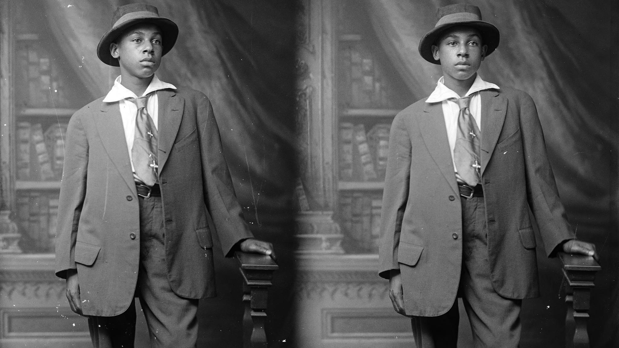 The Holsinger Collection holds 500 portraits of local African-American citizens such as this one taken of Daniel Brown in 1915. Located in U.Va.'s Special Collections Library, the collection is the focus of a conference and future exhibition organized by