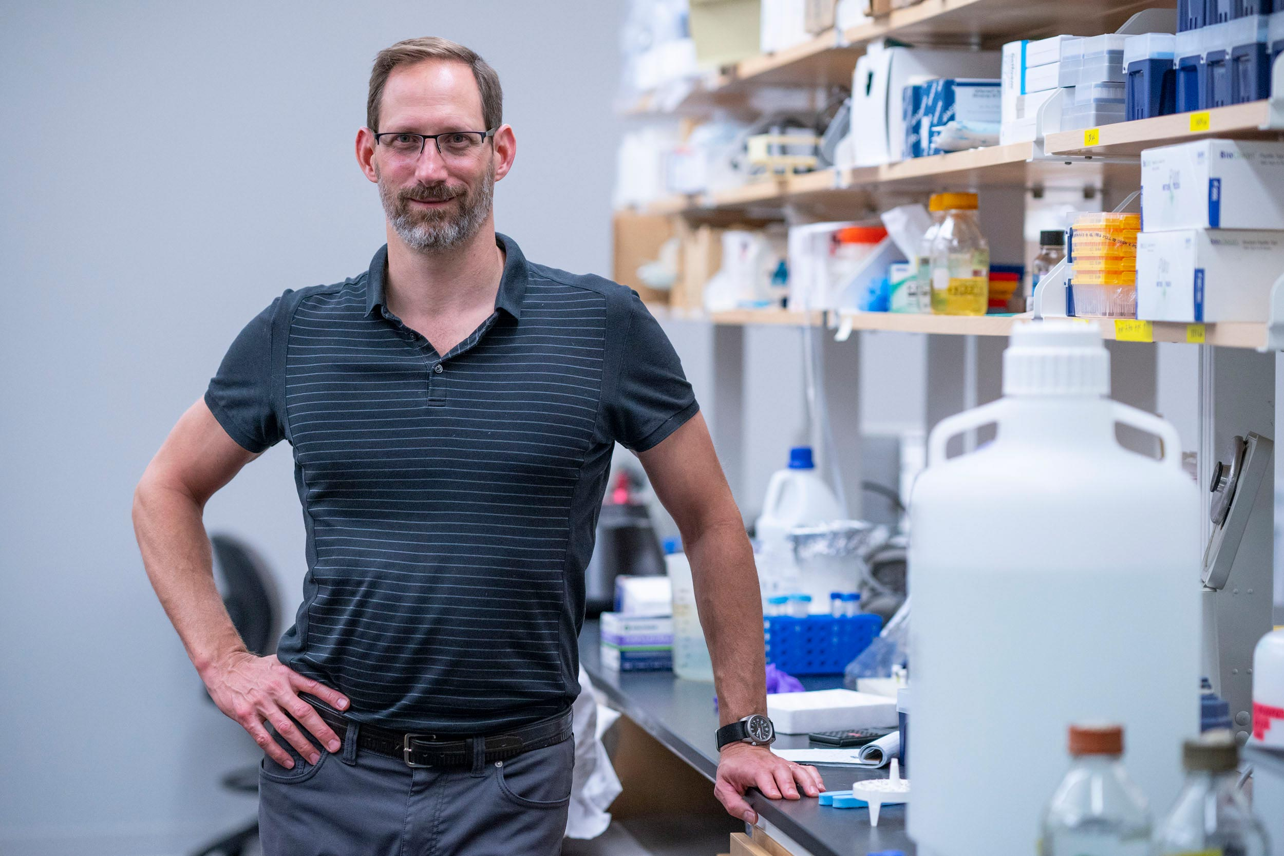 Dan Gioeli is a senior researcher in UVA's Department of Microbiology, Immunology and Cancer Biology and the UVA Cancer Center.