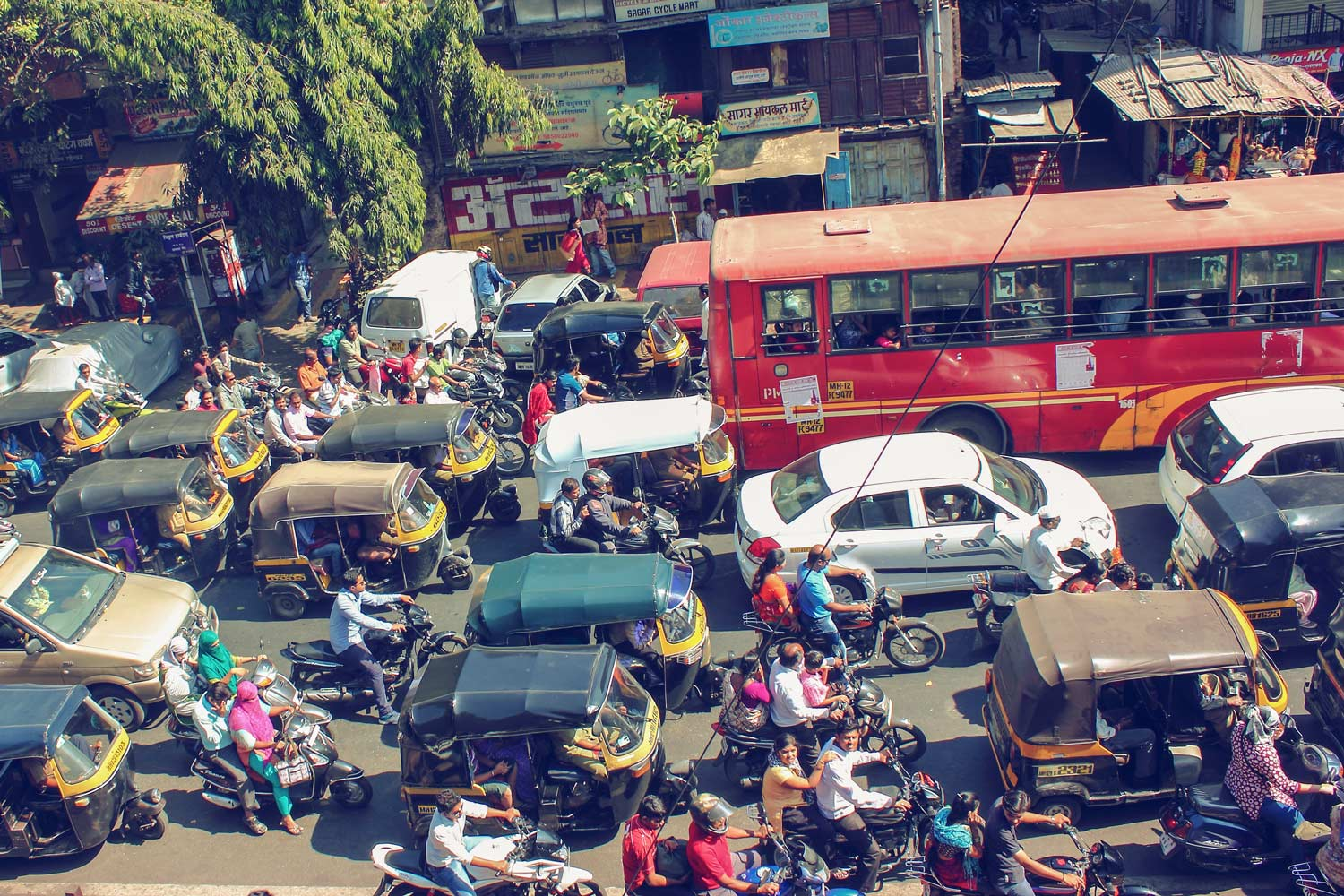 India's sometimes chaotic road system accounts for 10 percent of Earth's traffic fatalities.