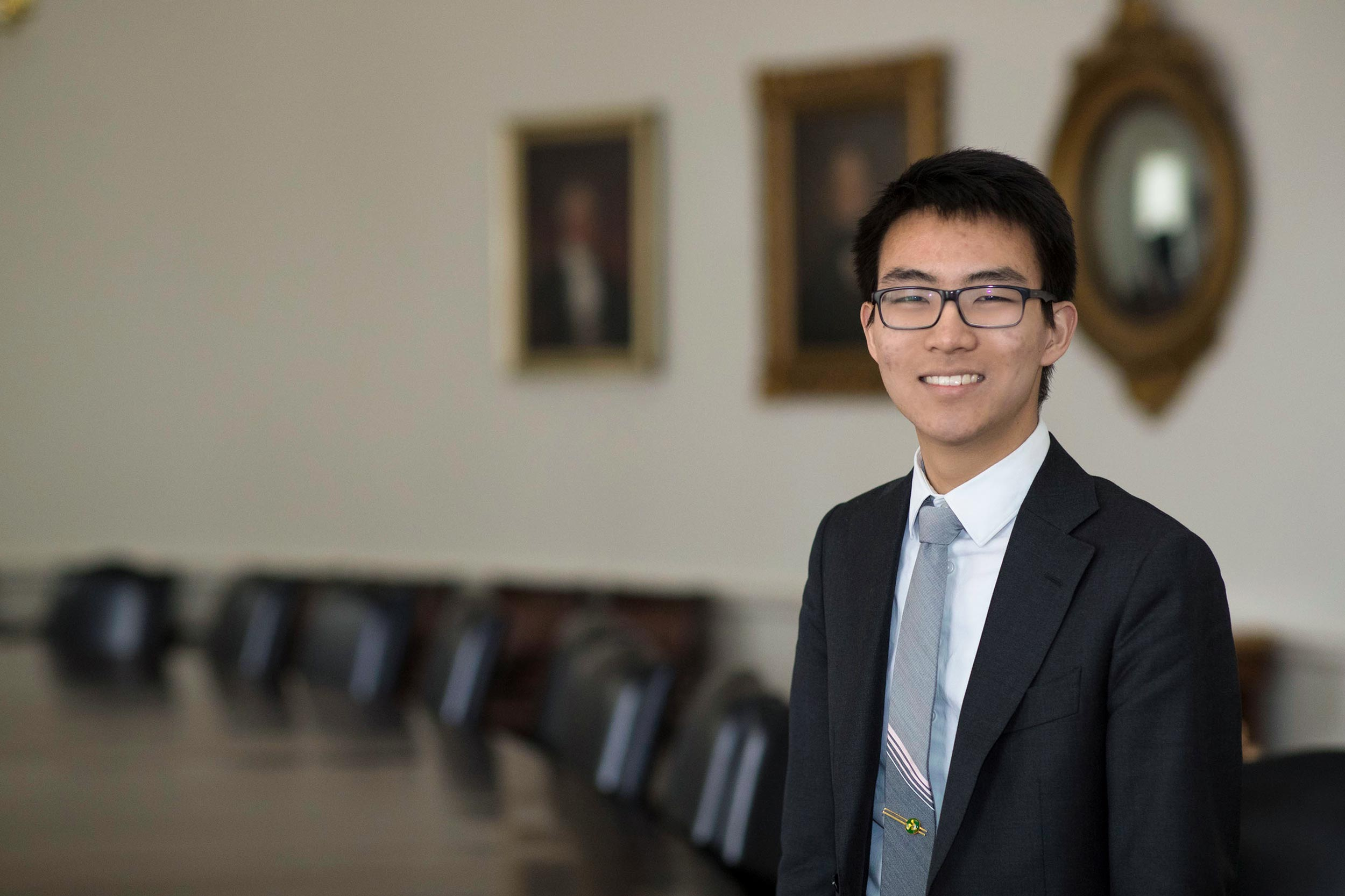 Derrick Wang is an Echols Scholar, a Raven Scholar and a National Merit Scholar. He is also a member of the Jefferson Literary and Debating Society and served on the Honor Committee.