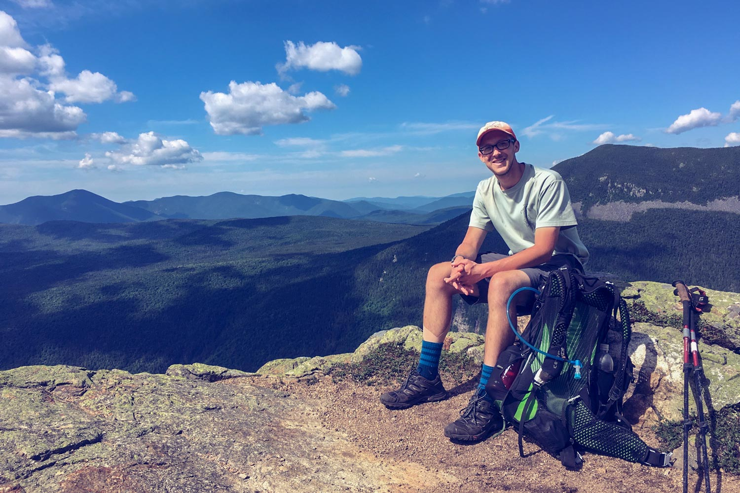 Underhill completed the Appalachian Trail in five months, starting in March 2016 and finishing in July. (
