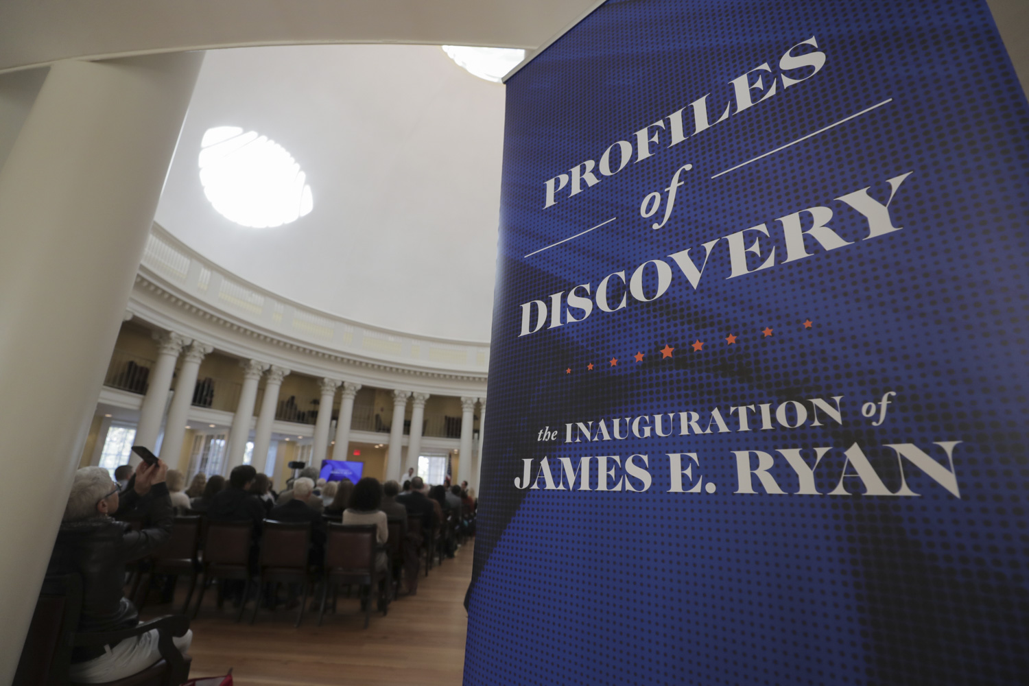 The Profiles in Discovery event was held Friday in the Rotunda Dome Room.