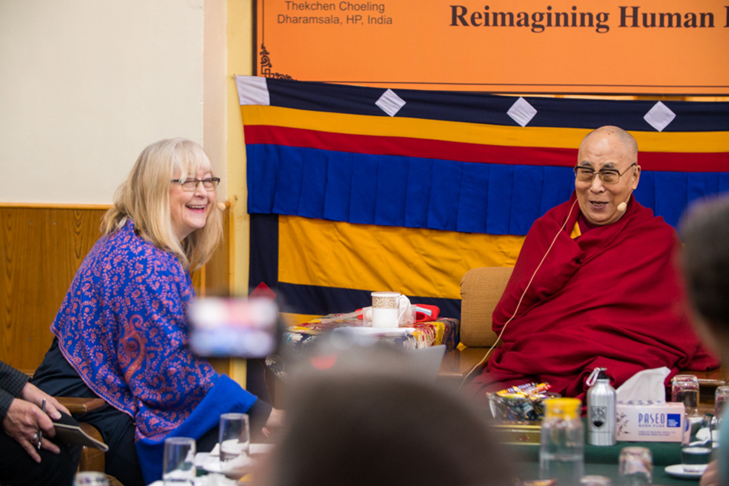 Tish Jennings presented her research to the Dalai Lama earlier this month in India. (Photo by Jonathan Joy-Gaba)