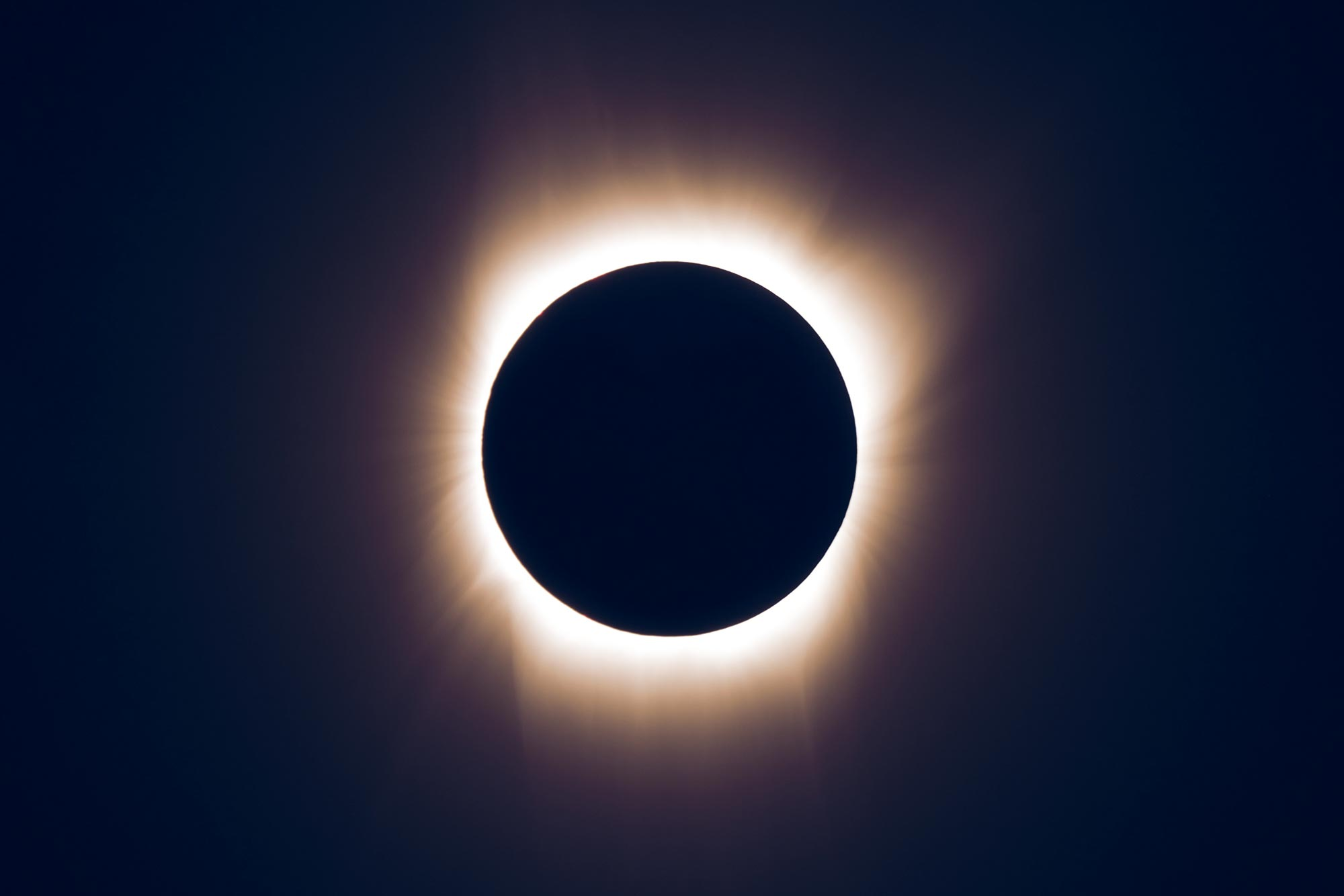 A total solar eclipse will occur Aug. 21. This image is of an event on July 11, 2010 as seen from the South Pacific. Photo by Williams College Eclipse Expedition - Jay M. Pasachoff, Muzhou Lu, and Craig Malamut)