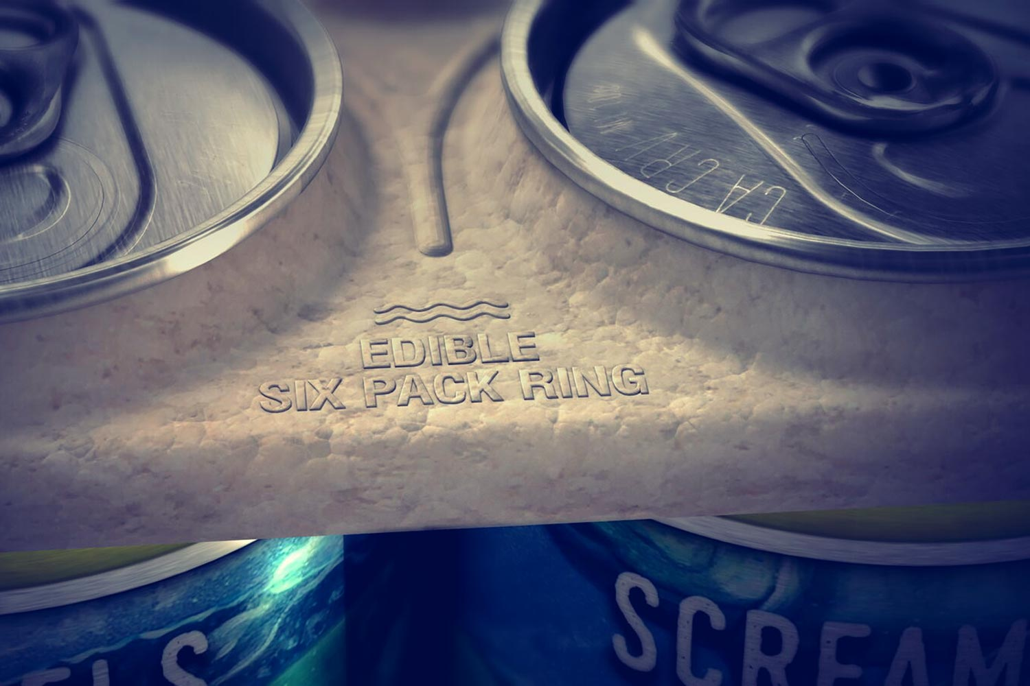 Darden alumnus Marco Vega's company, We Believers, has partnered with Saltwater Brewery in Delray Beach, Florida to test its edible six-pack rings. (Photo courtesy of We Believers)