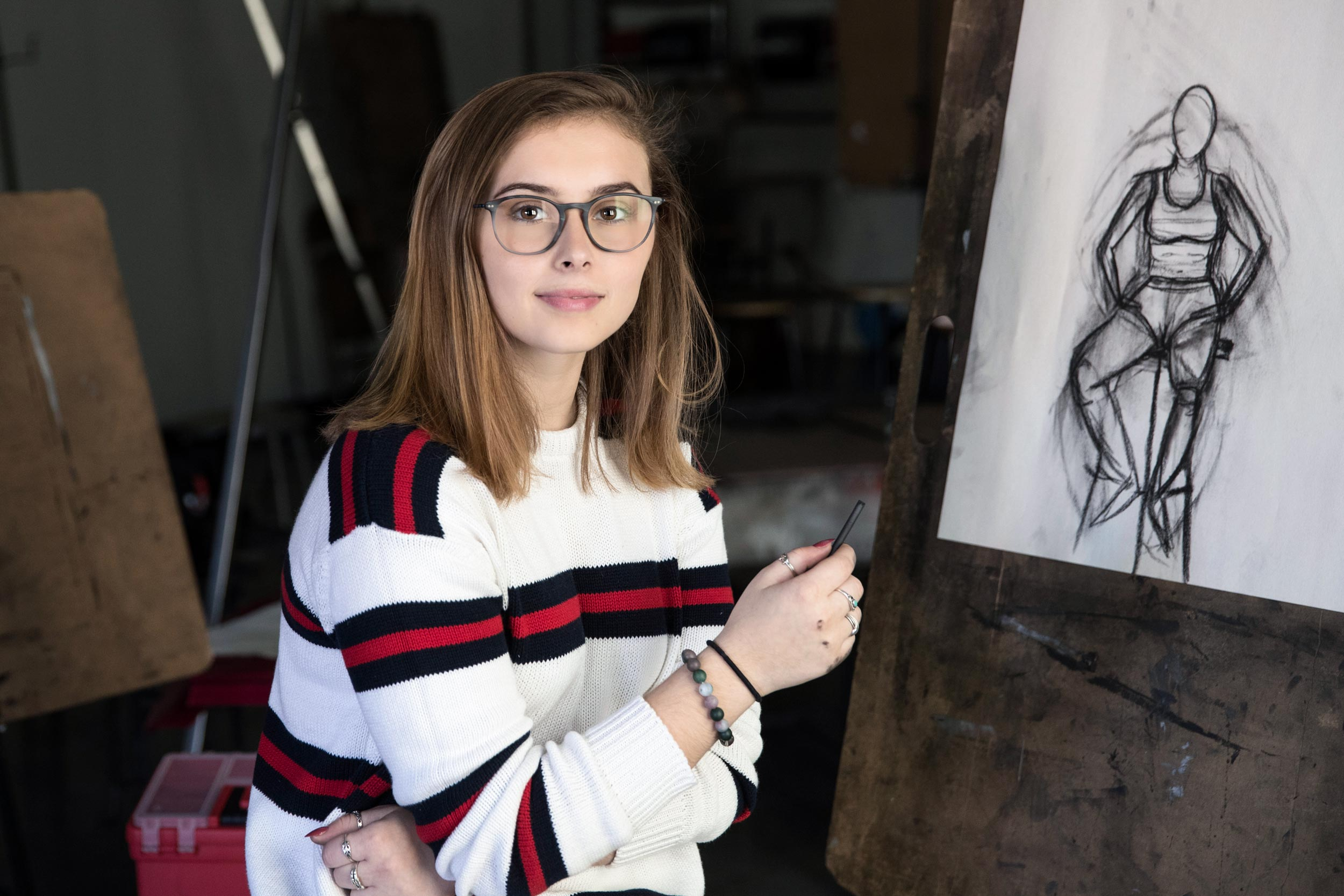 First-year student Emma Hitchcock started Art for the Heart with her high school friend, Zadie Lacy, last year.